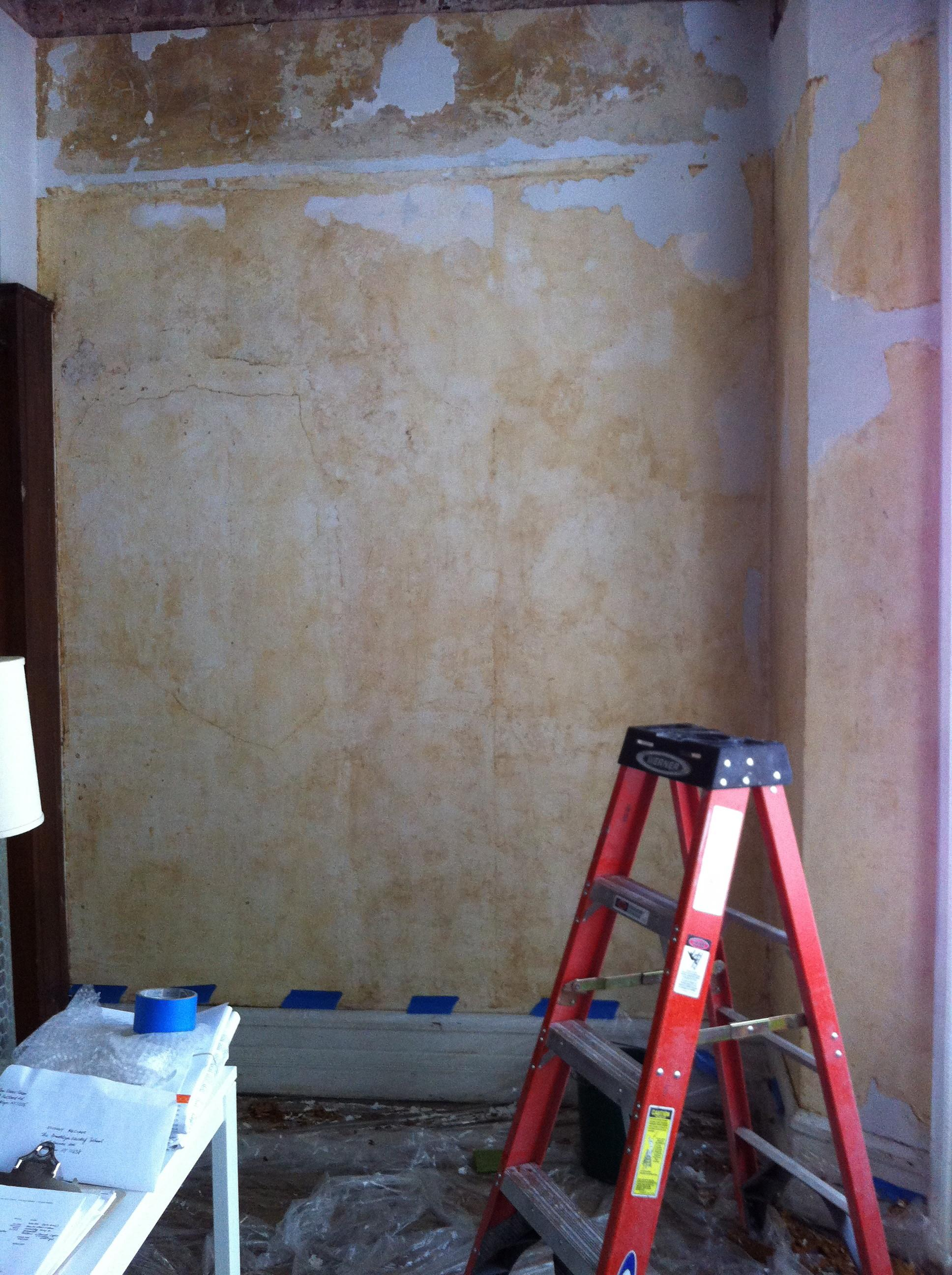 Diy Removing Painted Over Plaster Wall