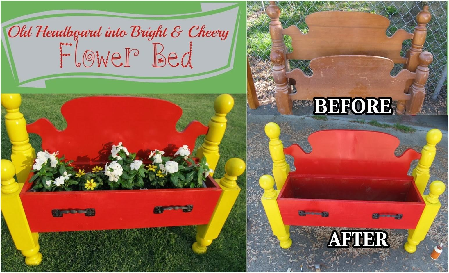 Diy Repurposed Headboard Into Flower Bed Craft