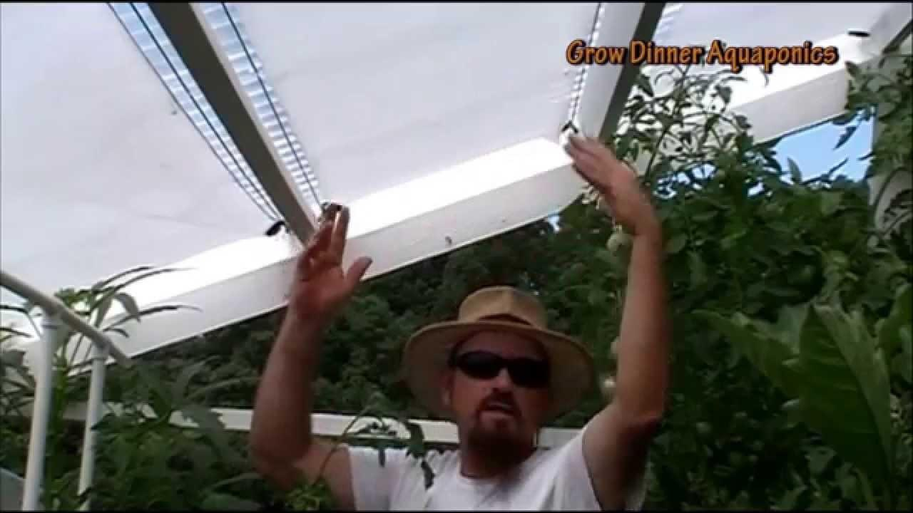 Diy Retractable Shade Cover Aquaponics Greenhouse Beat
