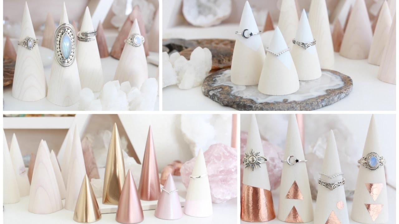 Diy Ring Displays Decorative Wood Cone Ideas