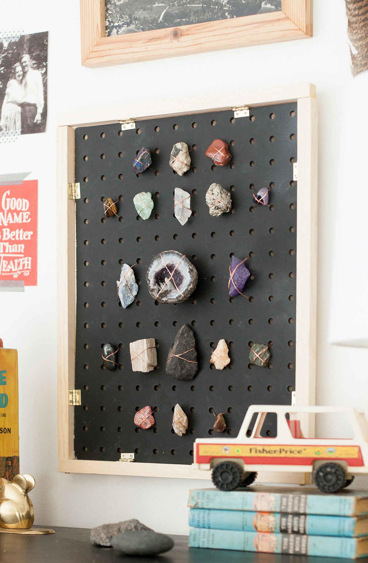 Diy Rock Collection Display Lay Baby