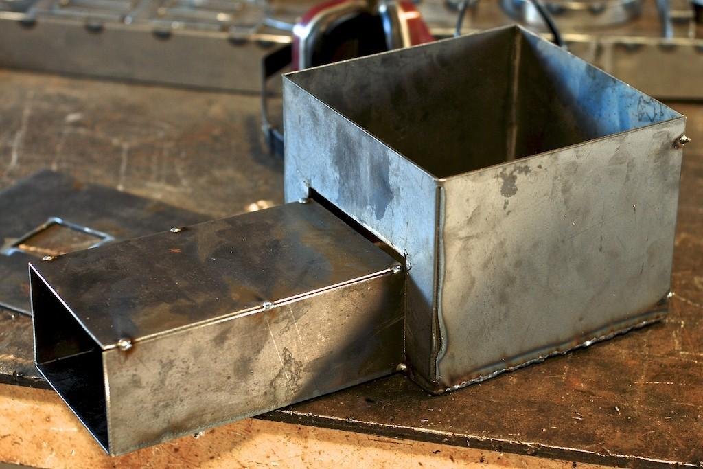 Diy Rocket Stove Drop Metal
