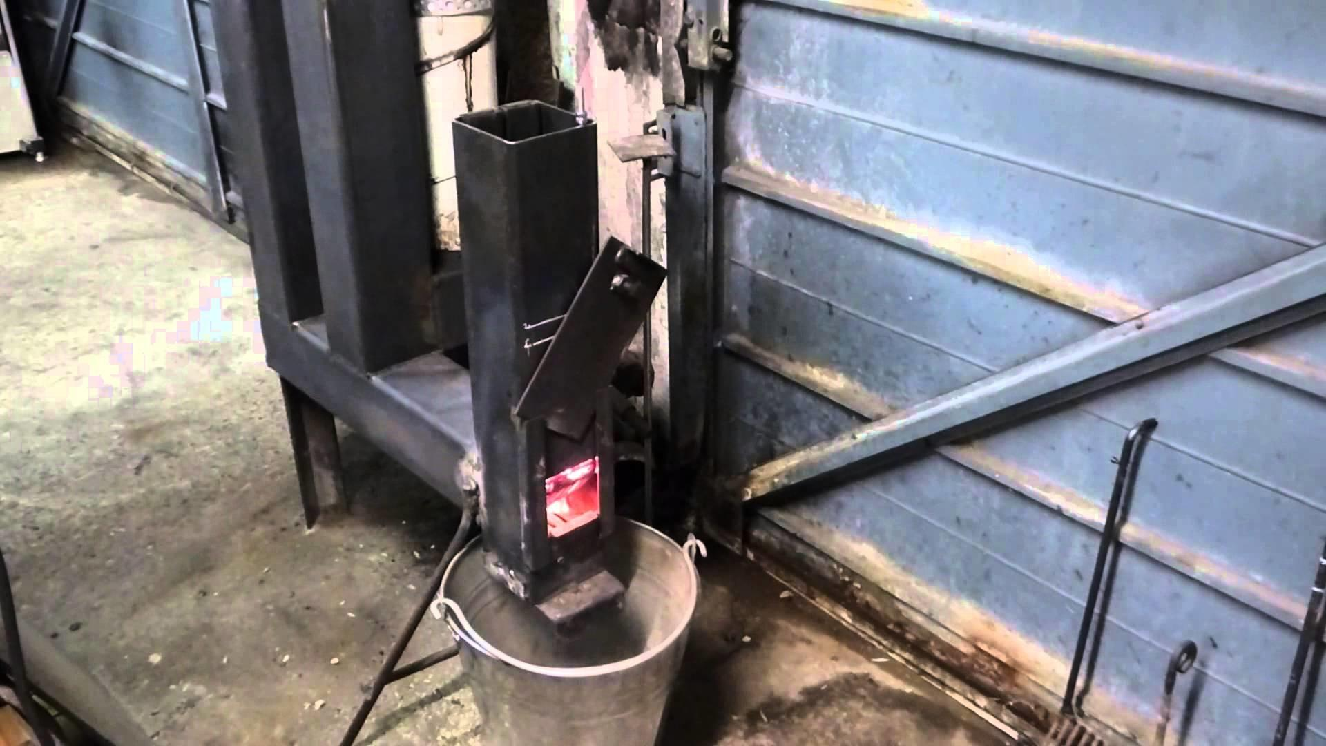 Diy Rocket Stove Wood Pellet Space Heater Mk3