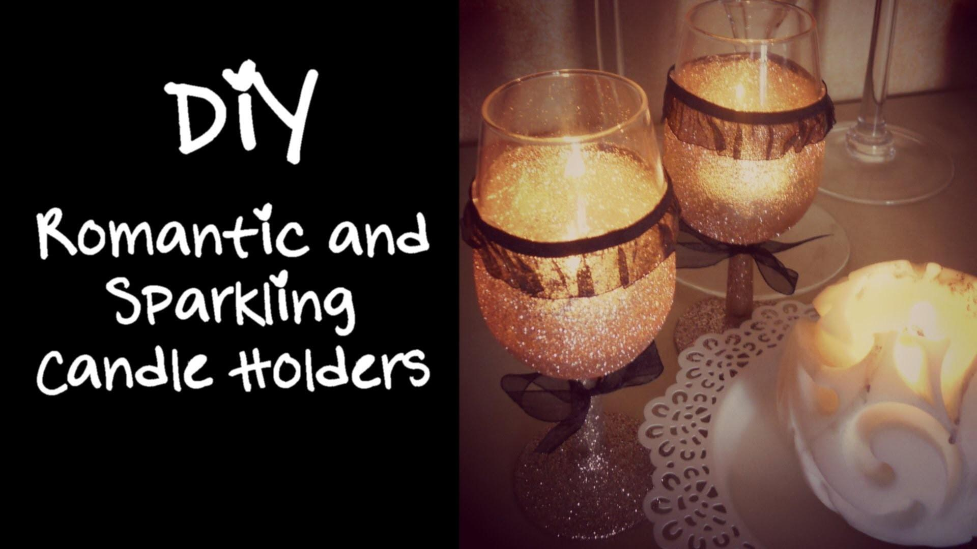 Diy Romantic Sparkling Candle Holders Home Decor