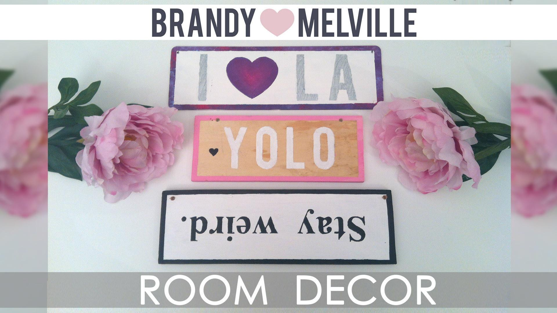 Diy Room Decor Brandy Melville Inspired Wooden Signs
