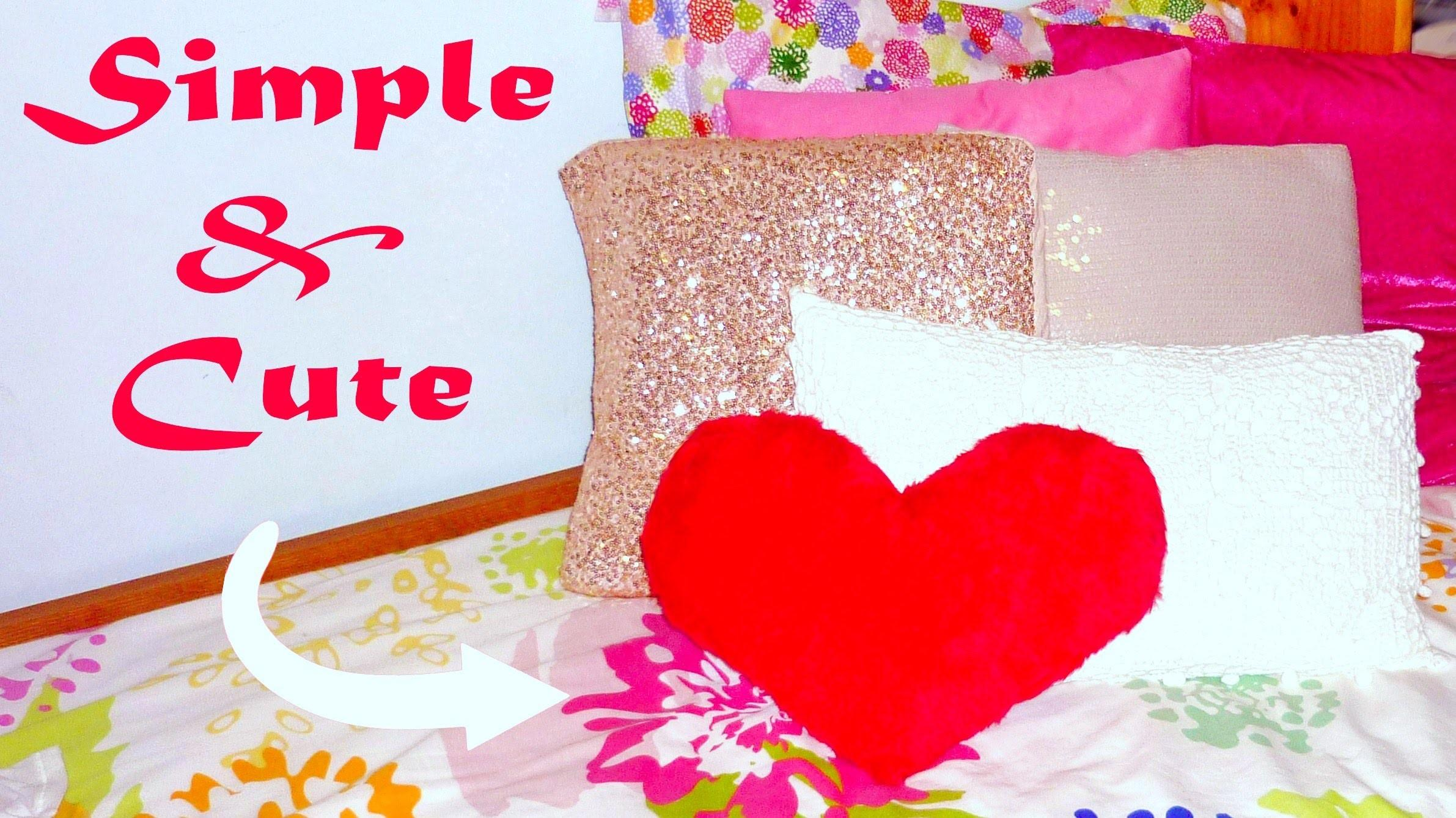 Diy Room Decor Sew Heart Pillow