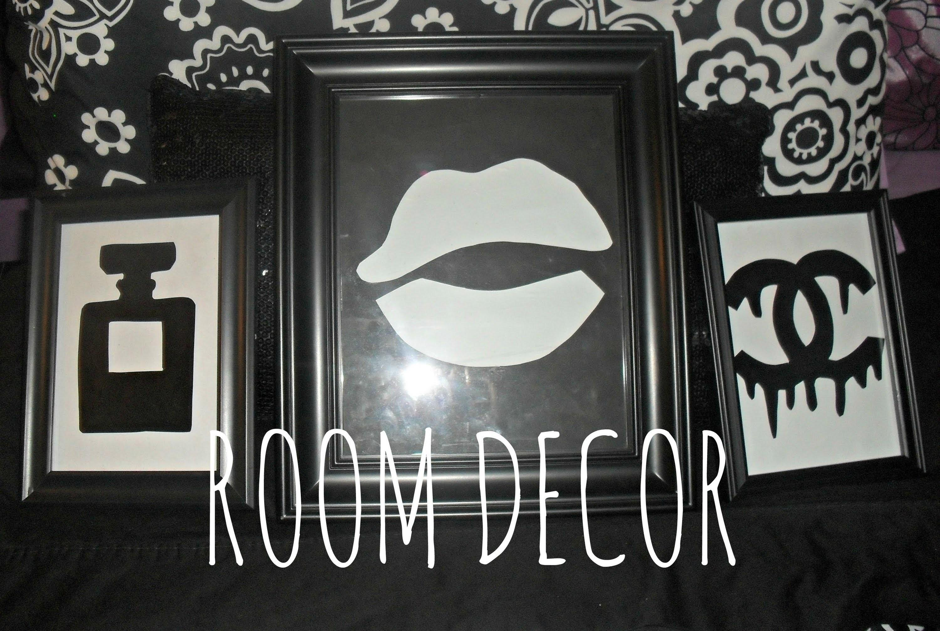 Diy Room Decor Stencil Wall Chanel Dripping Logo
