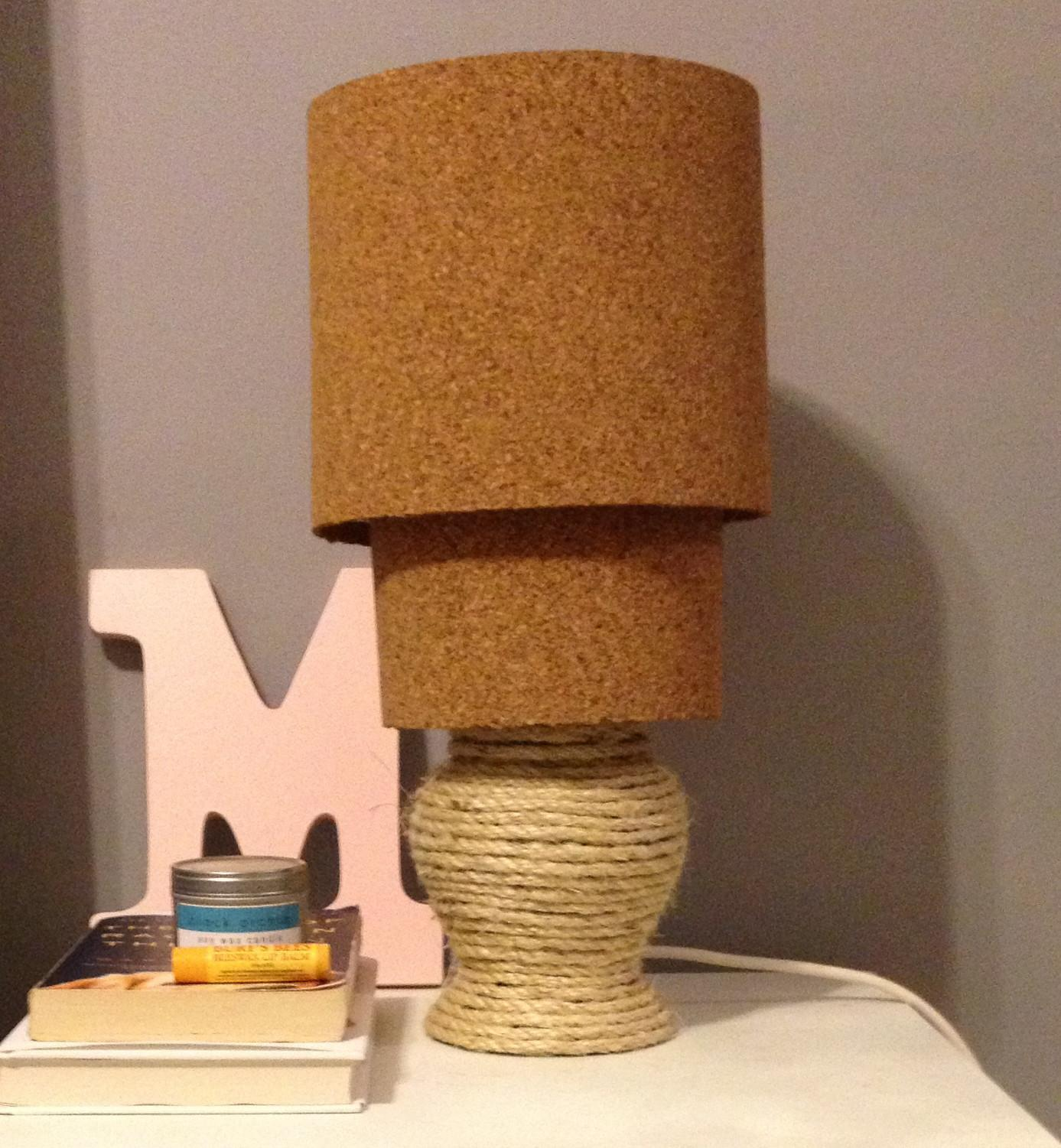 Diy Rope Cork Lamp Revamp Charleston Crafted