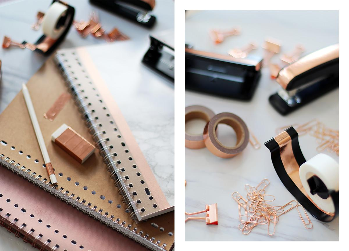 Diy Rose Gold Marble School Supplies Giveaway Lily Like