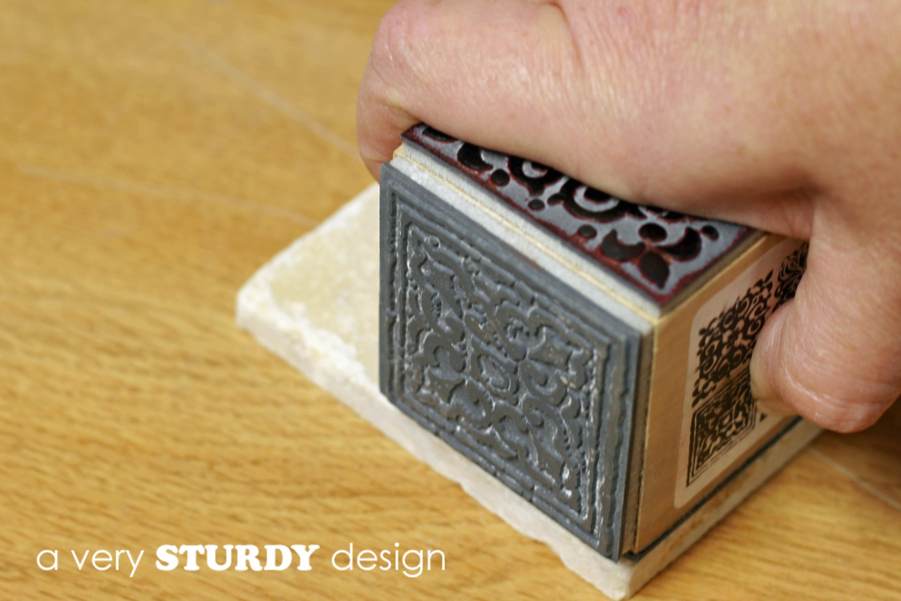 Diy Rubber Stamped Tile Coasters Very Sturdy Design