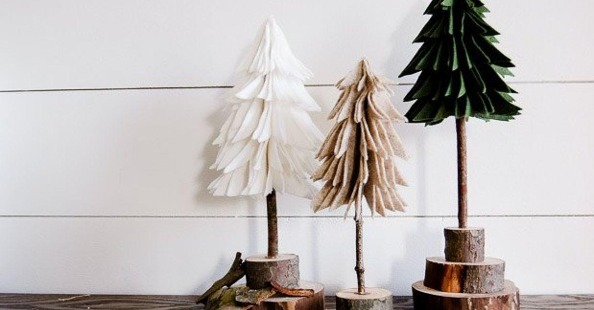 Diy Rustic Felt Christmas Trees Hometalk