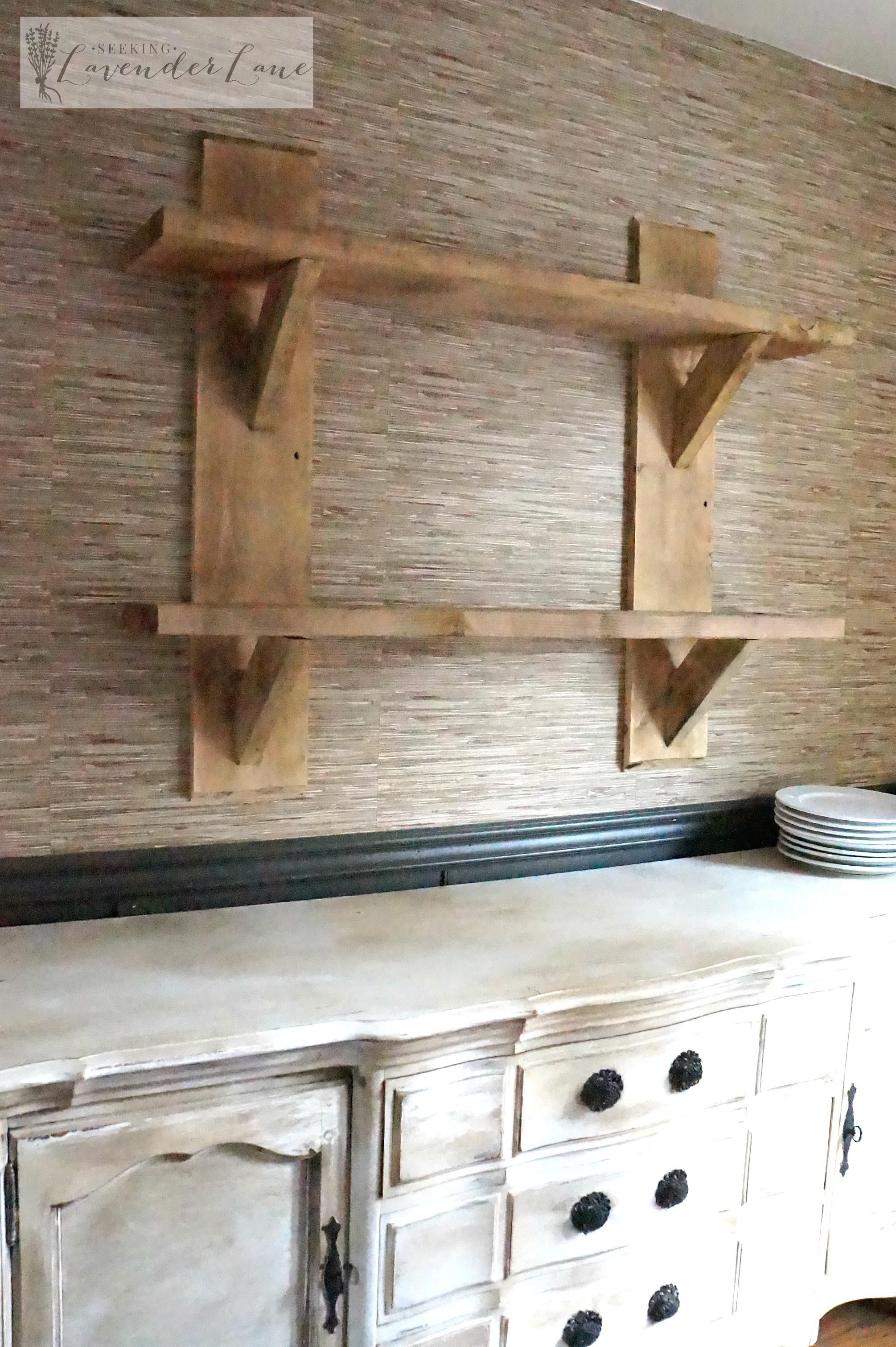 Diy Rustic Floating Shelves Seeking Lavendar Lane