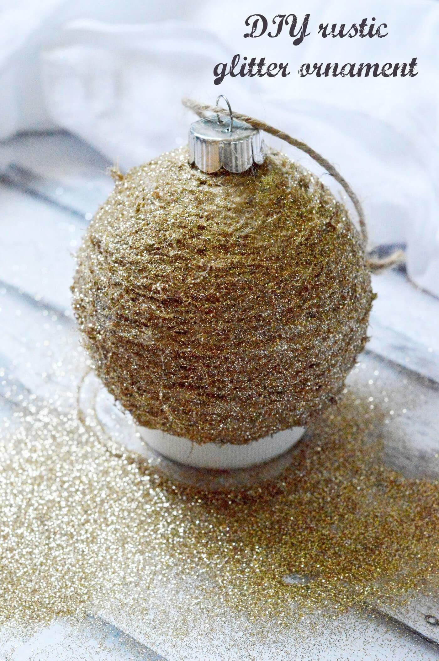 Diy Rustic Glitter Ornament Mod Podge Rocks