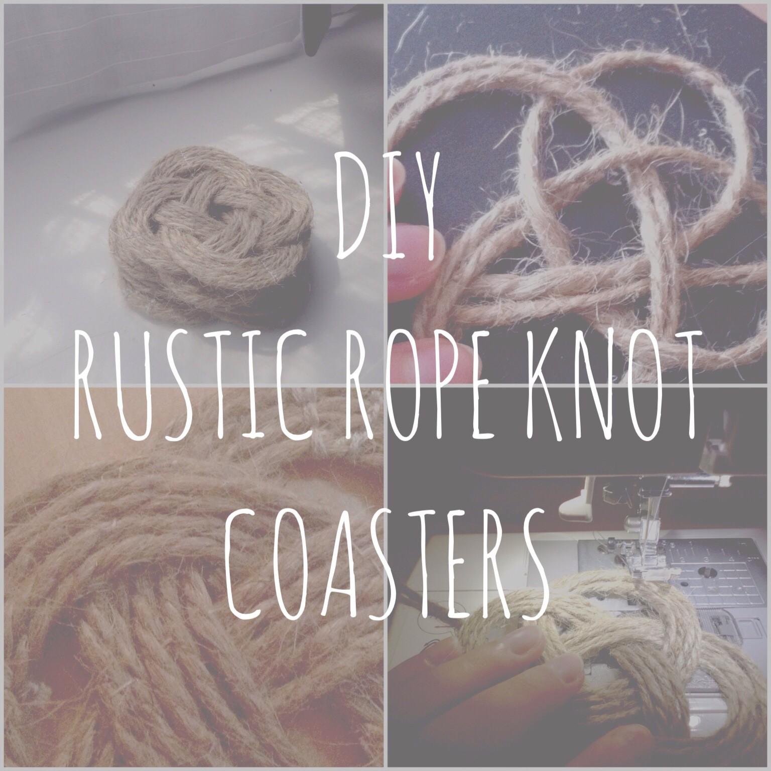 Diy Rustic Rope Knotted Coasters Catherine Shinay