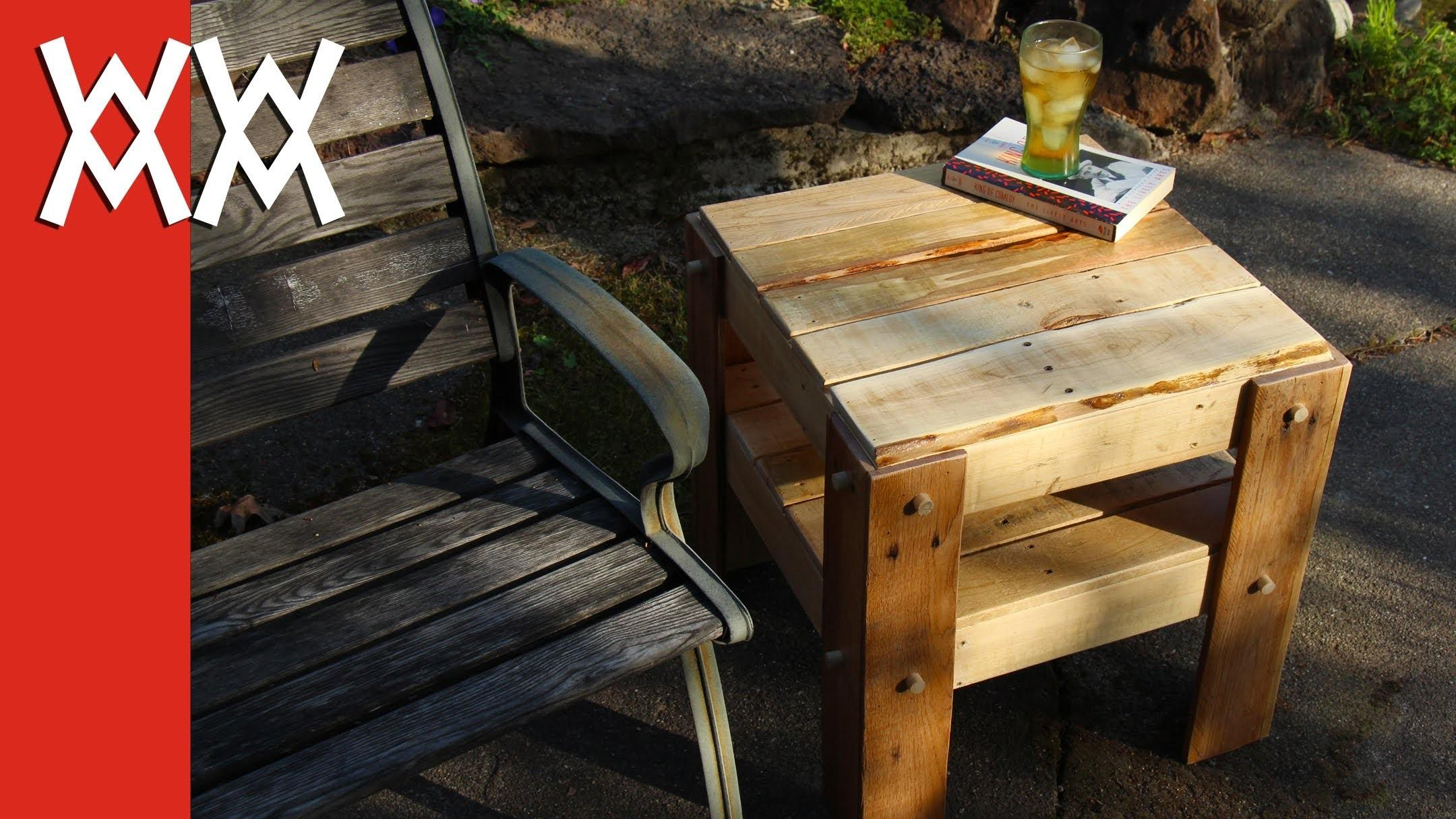 Diy Rustic Side Table Made Pallets