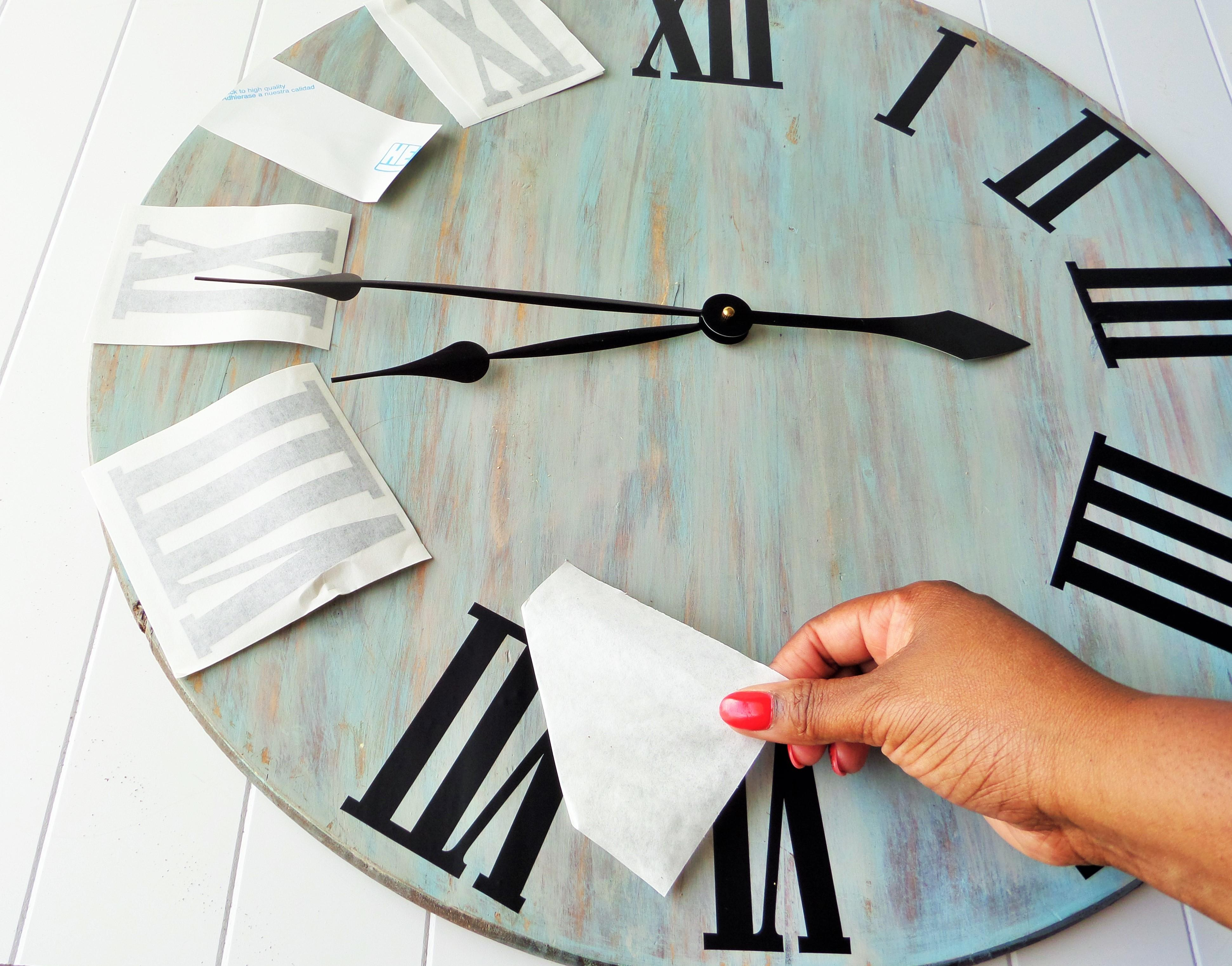 Diy Rustic Wall Clock Guest Denise