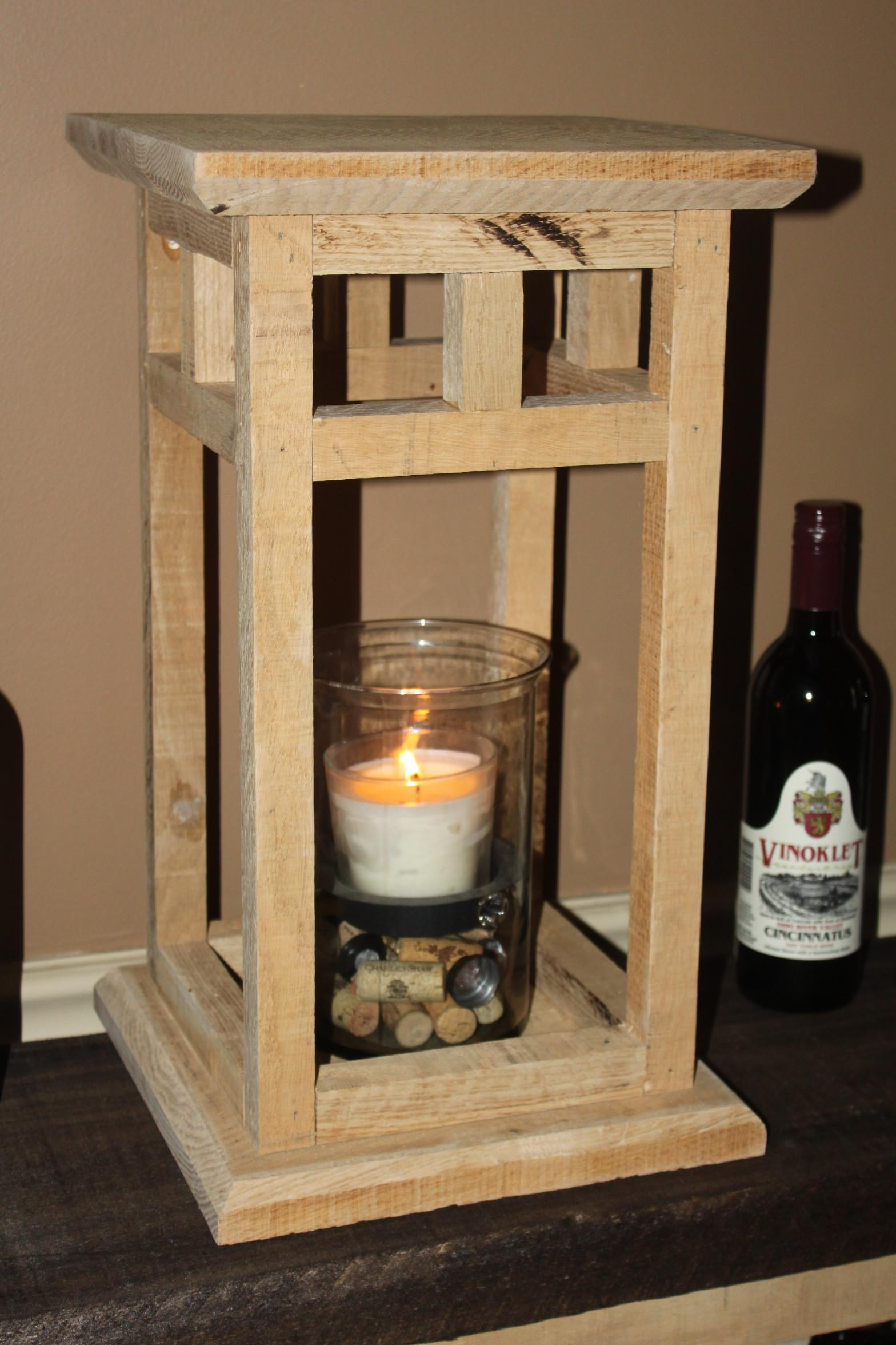 Diy Rustic Wood Lantern Project Made Pallets