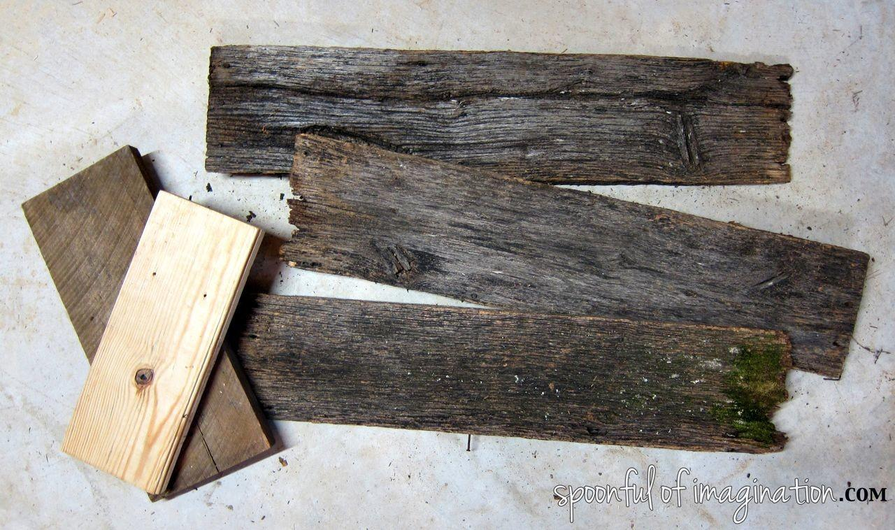 Diy Rustic Wood Shelf Spoonful Imagination
