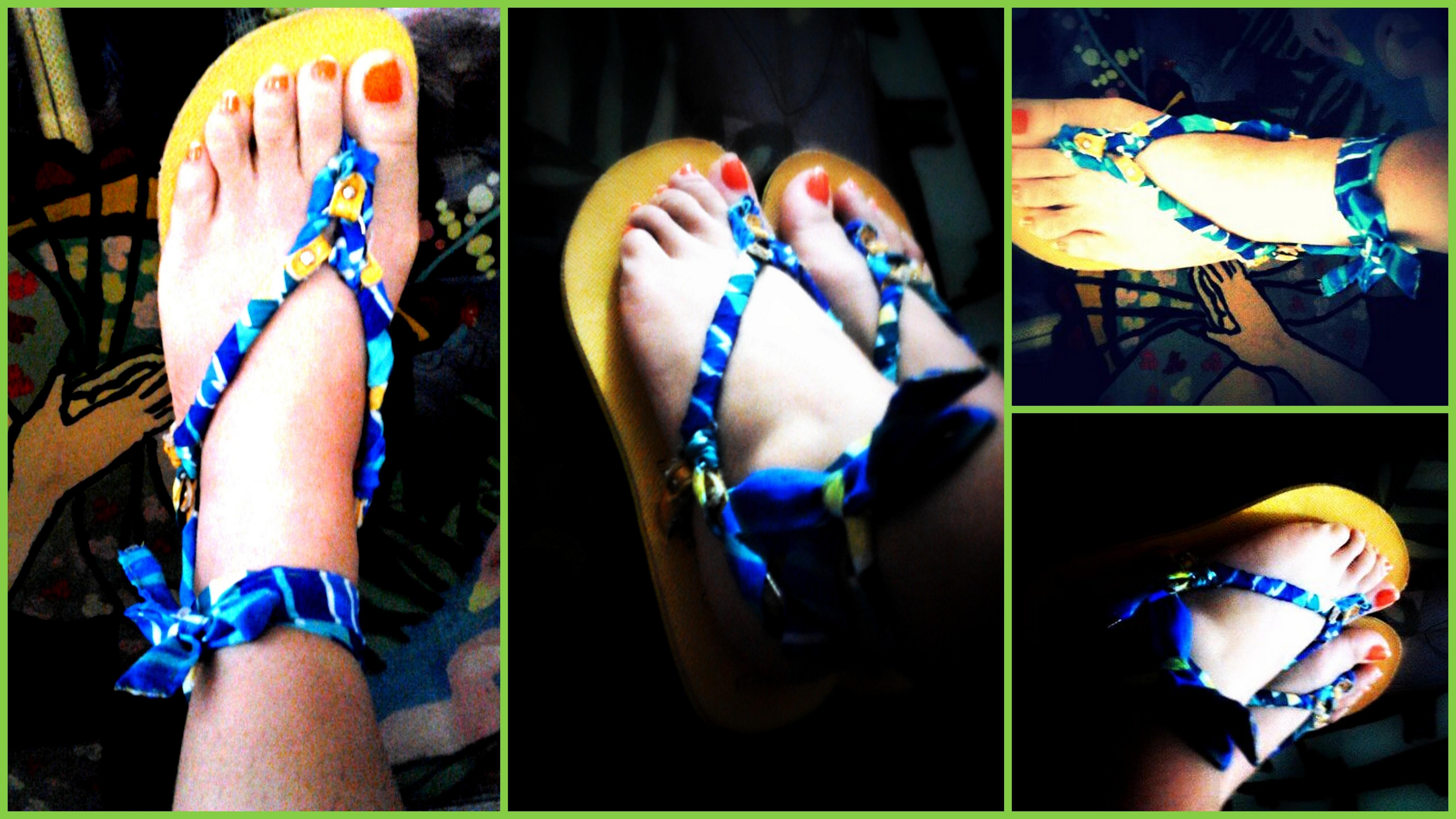 Diy Sandals Slippers Makeover Daugthereansparalleluniverse