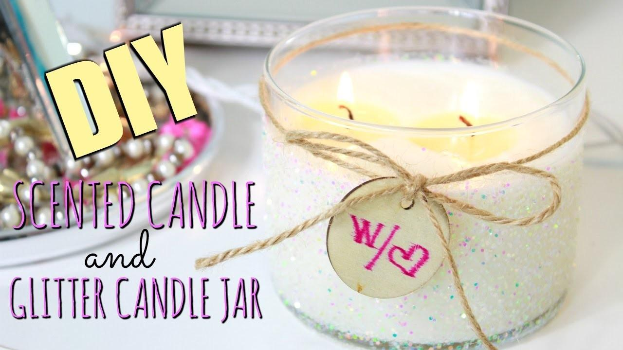 Diy Scented Candle Glitter Jar