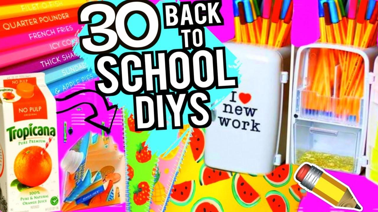 Diy School Supplies Projects Back 2016