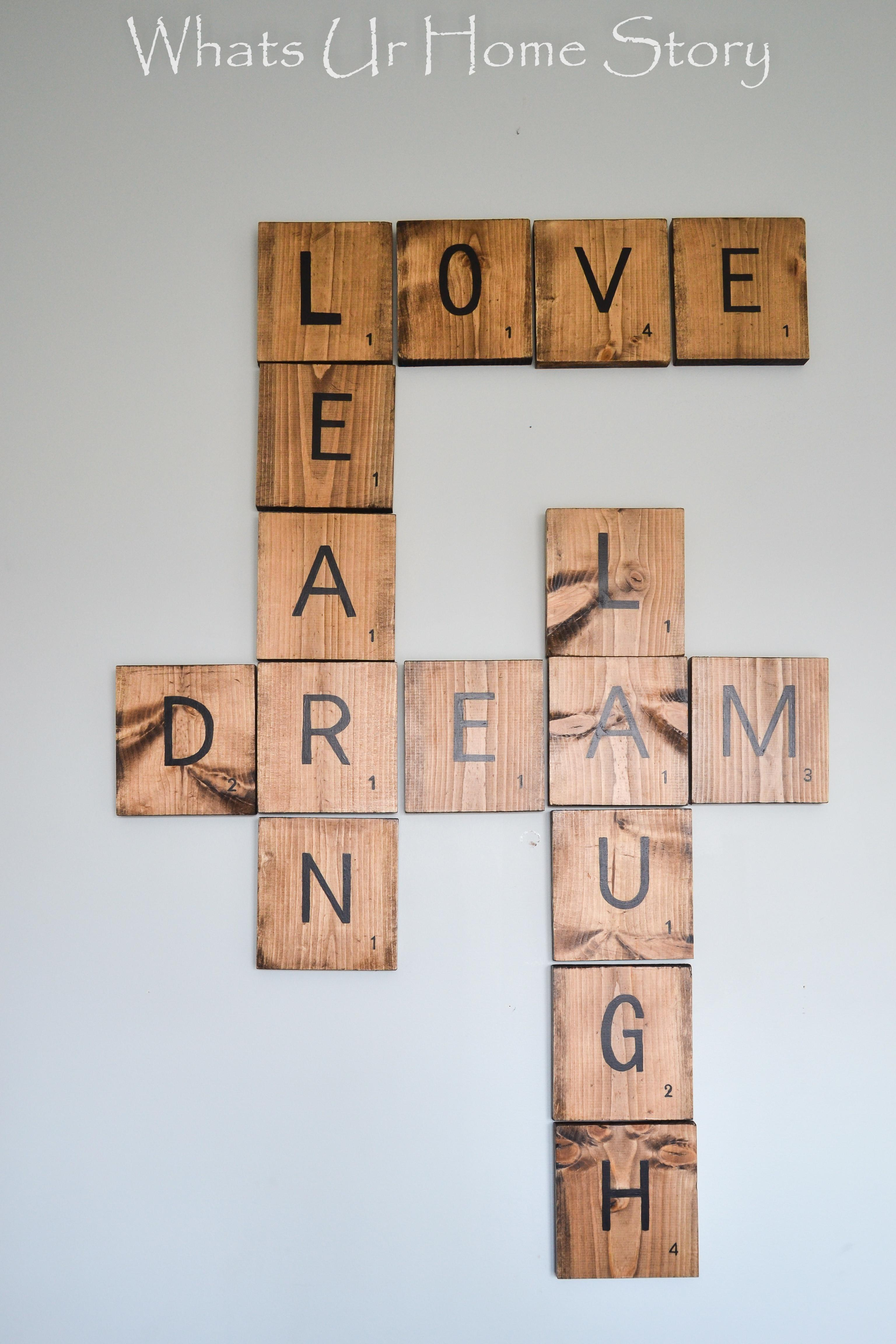 Diy Scrabble Tiles Whats Home Story
