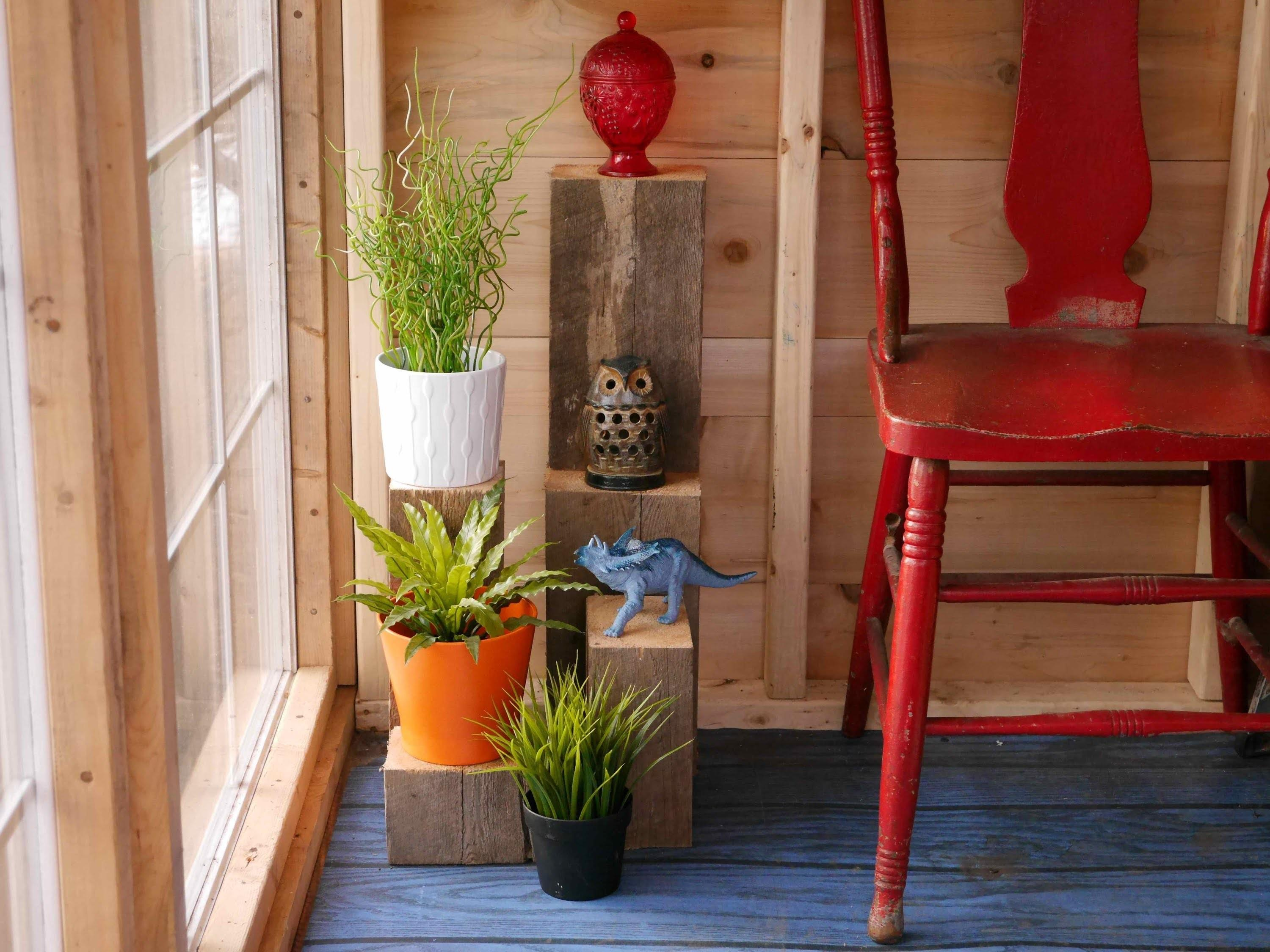 Diy Scrap Wood Plant Stands Salvaged Material