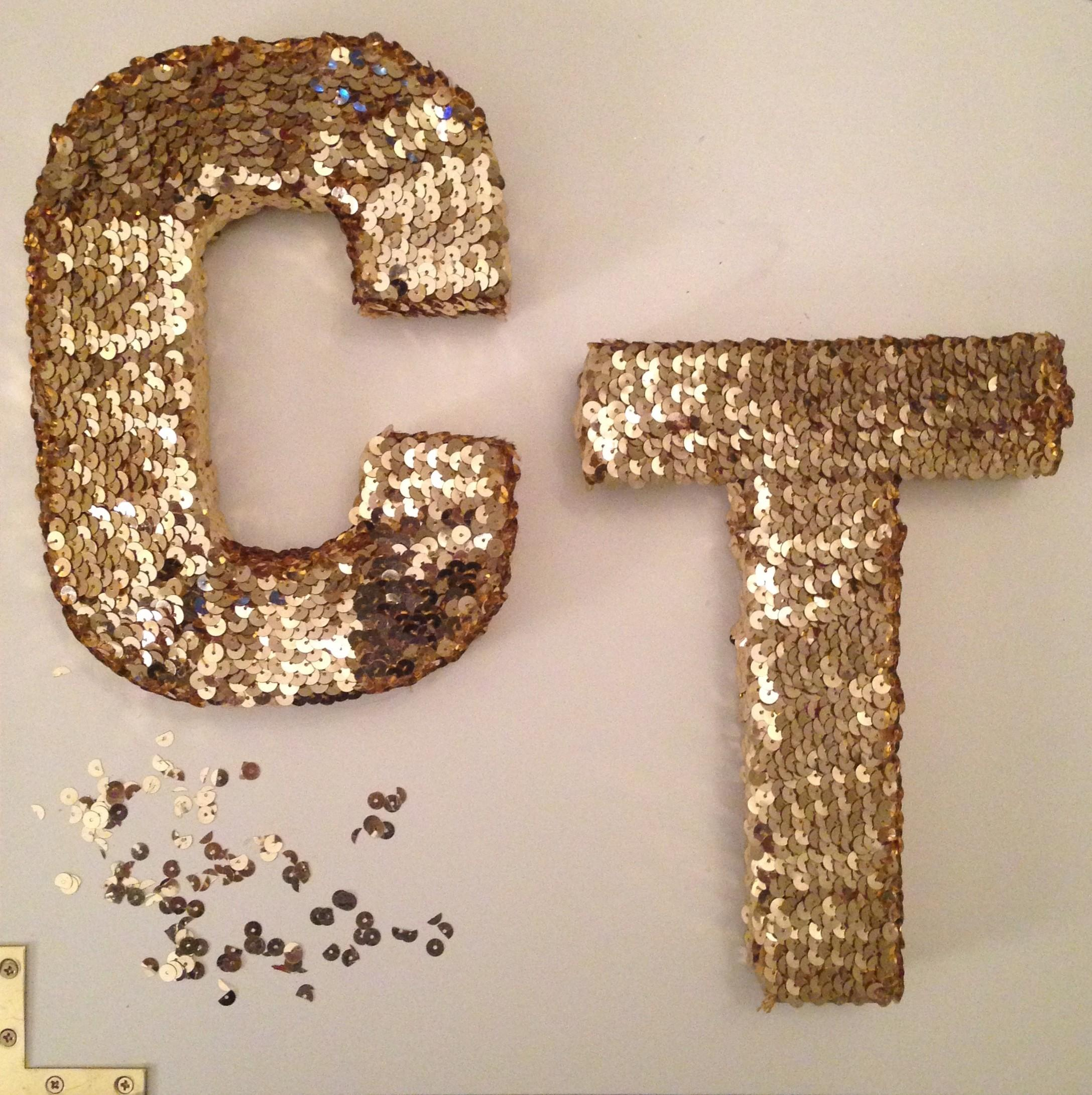 Diy Sequin Letters Late Night Crafters