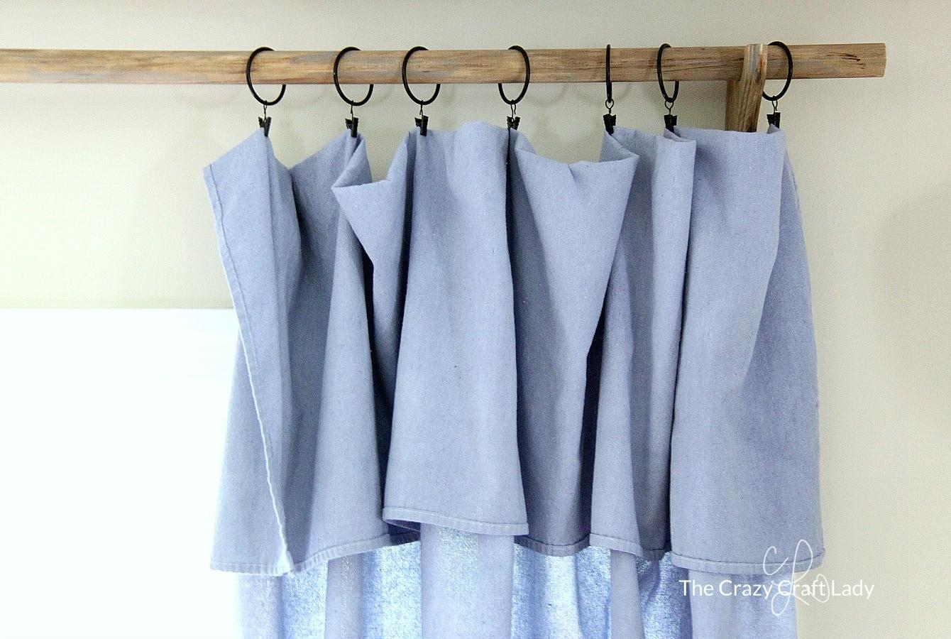 Diy Sew Drop Cloth Curtains Cheap Curtain Rod