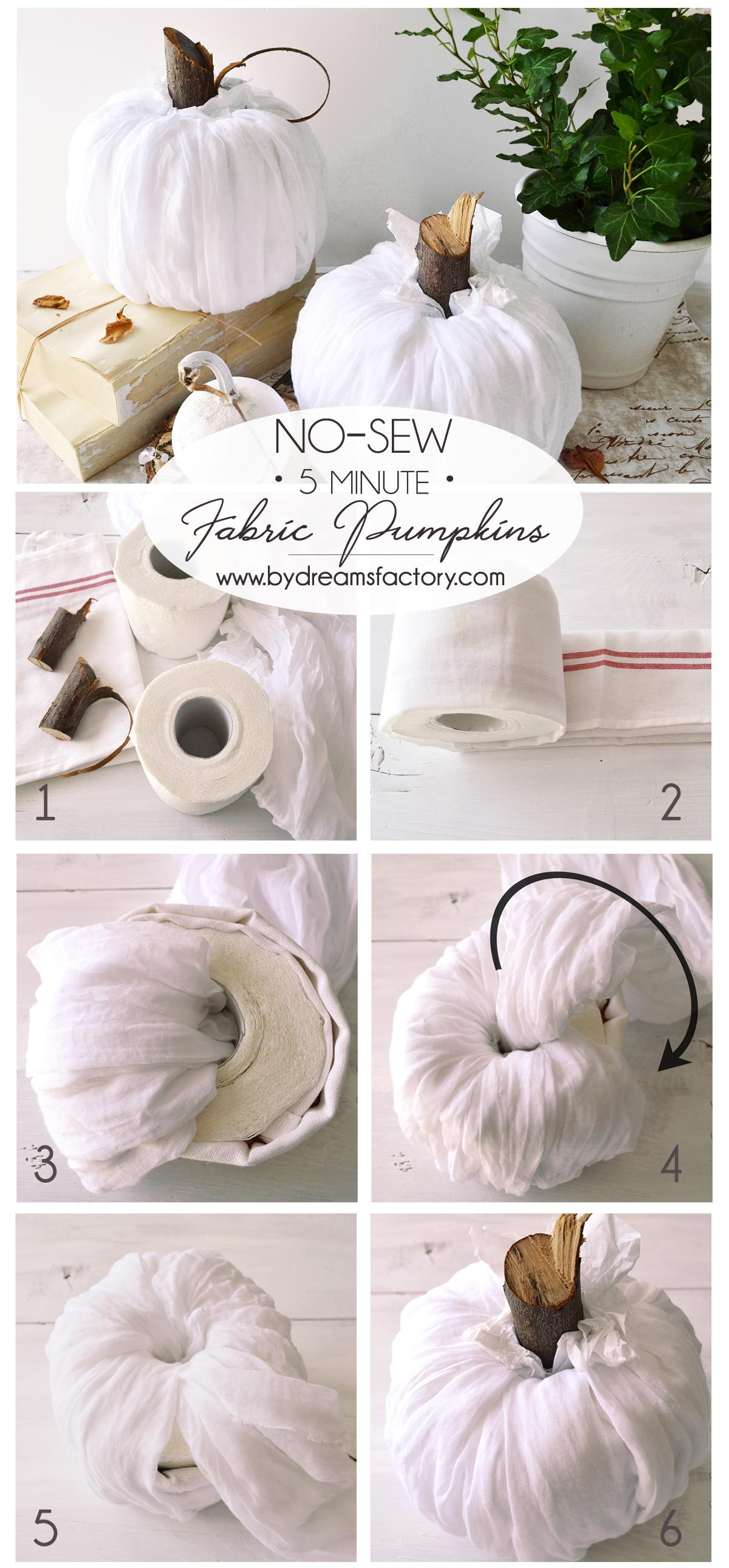 Diy Sew Fabric Pumpkins Ready Minutes
