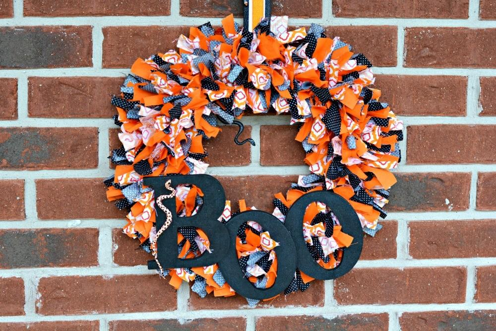 Diy Sew Halloween Boo Fabric Tie Wreath Divine Lifestyle