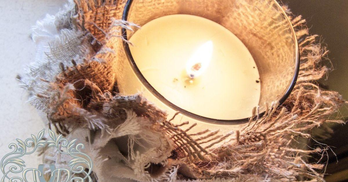 Diy Shabby Candle Covers Hometalk