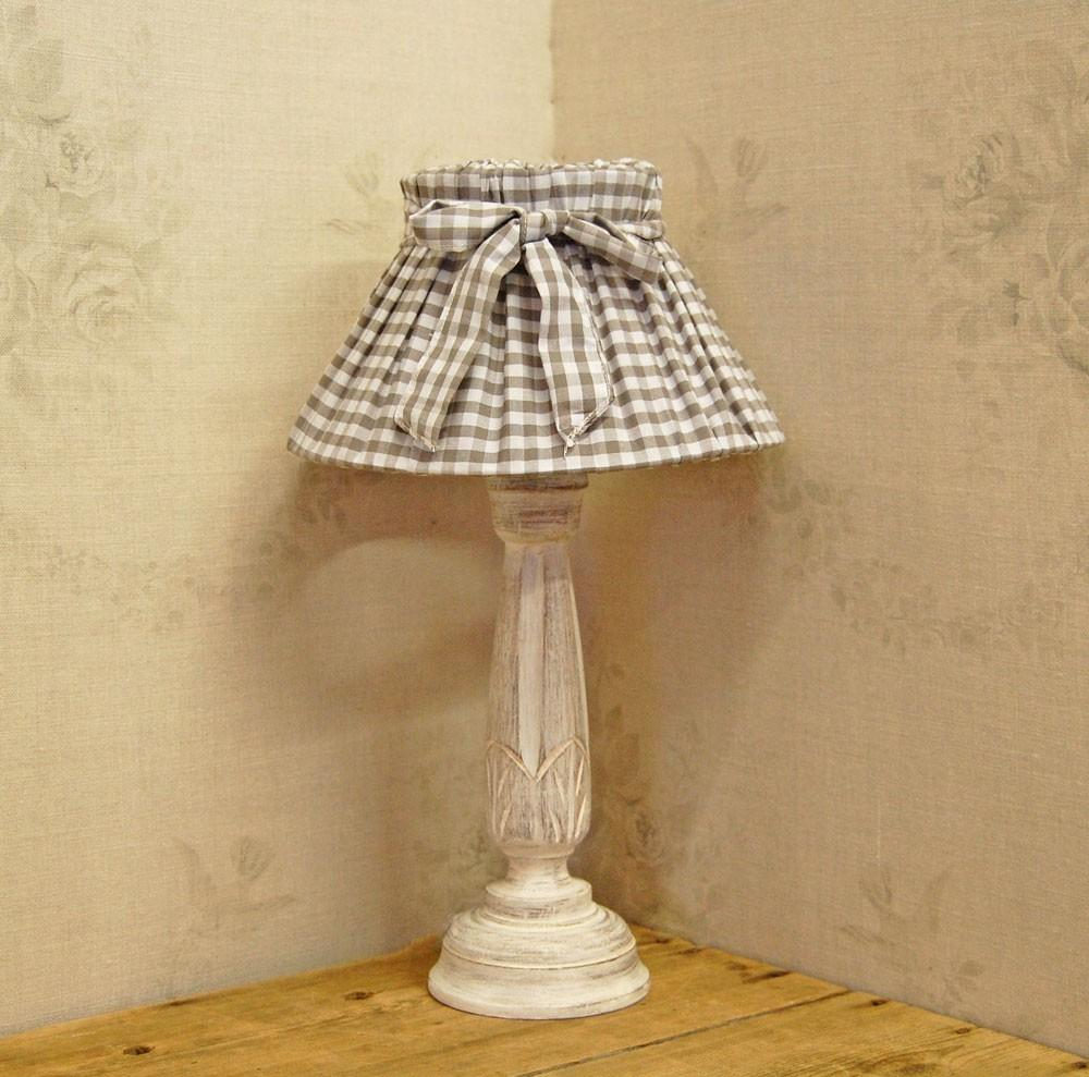 Diy Shabby Chic Fabric Lamp Shades Corner Table
