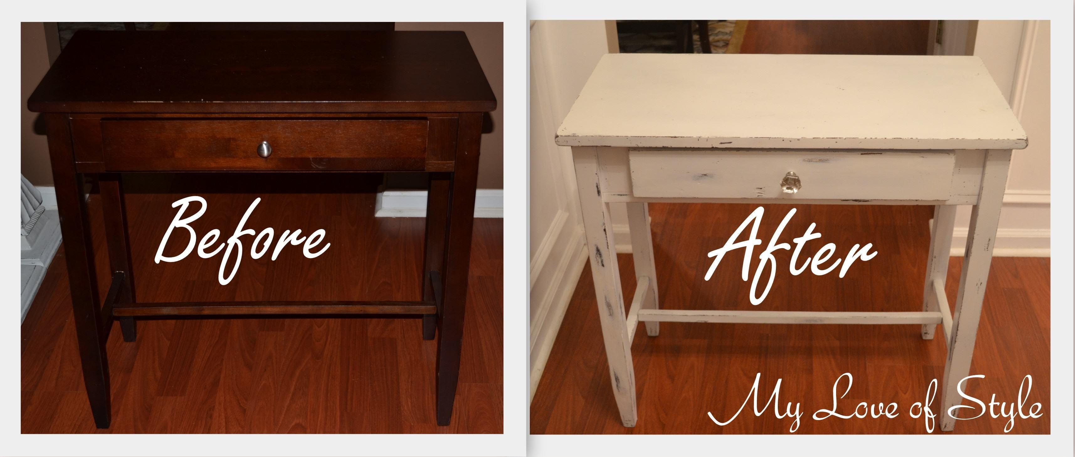 Diy Shabby Chic Table Distressing Tutorial Love