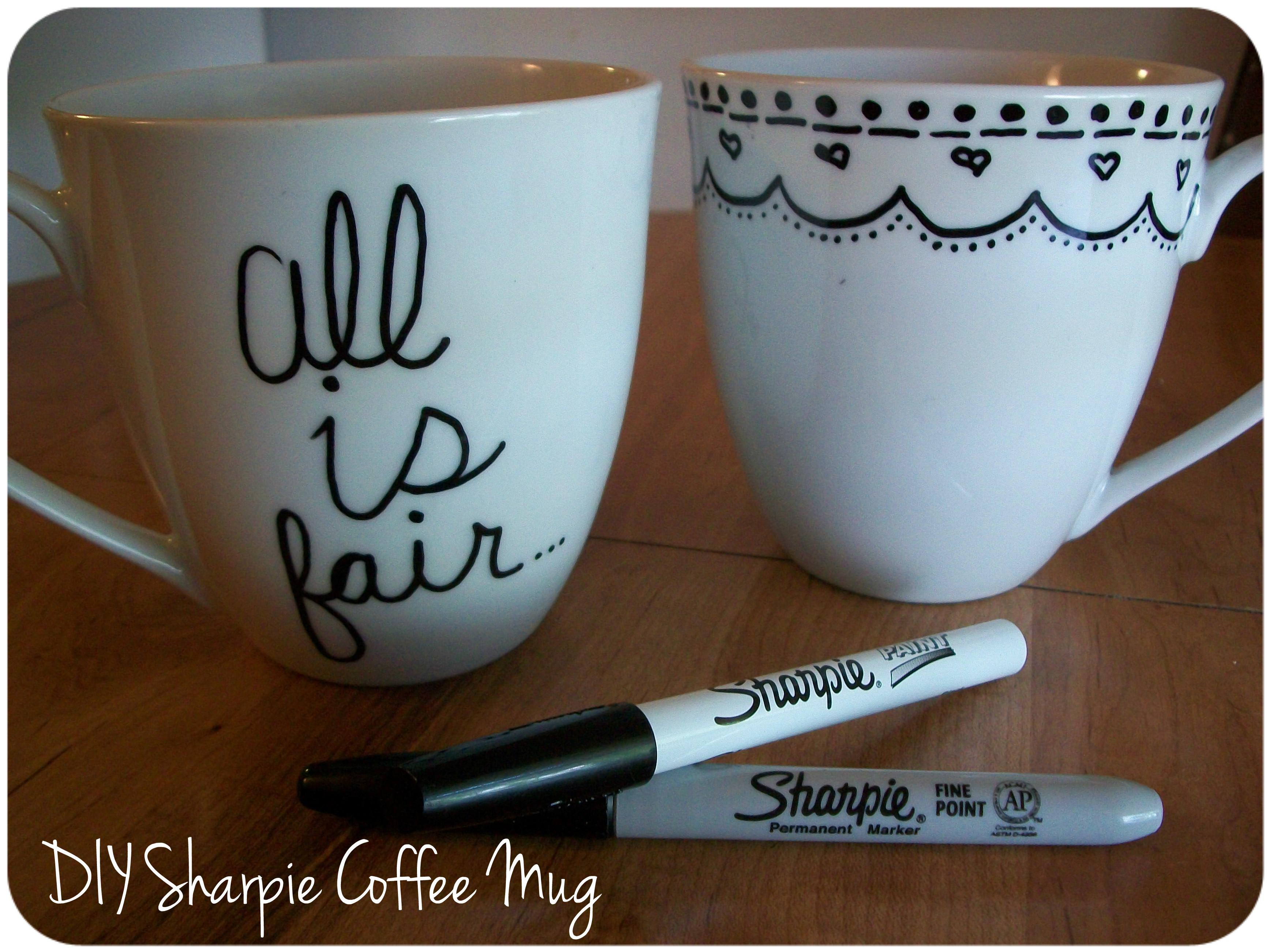 Diy Sharpie Mug Yarn Tell