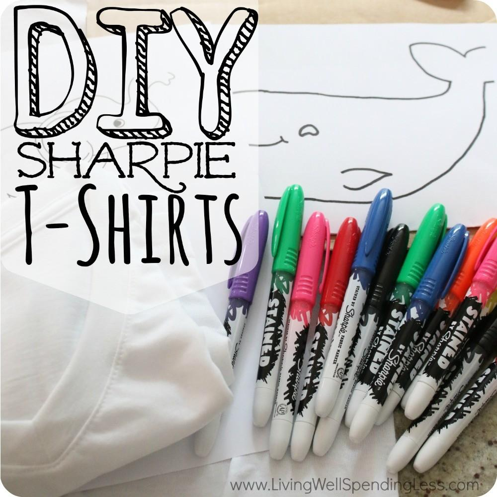 Diy Sharpie Stained Shirts Shirt Crafts