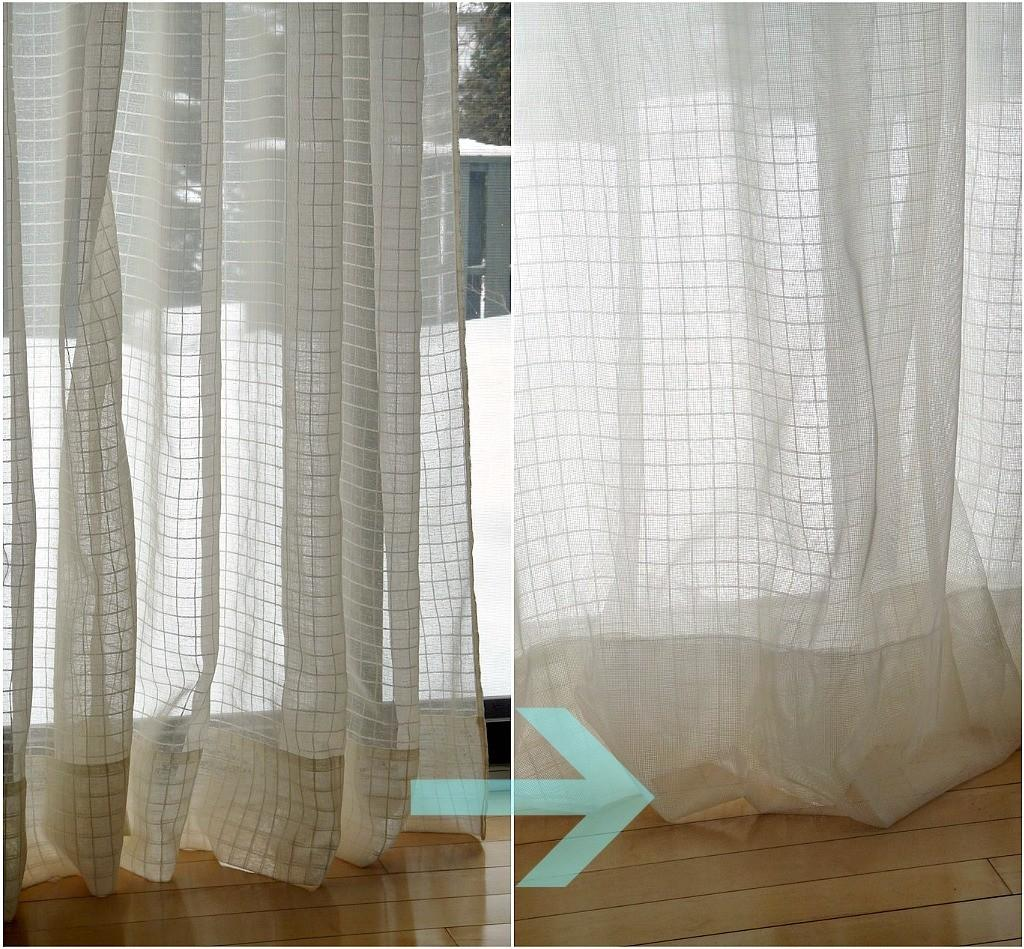 Diy Sheer Sandwich Curtains Dans Lakehouse