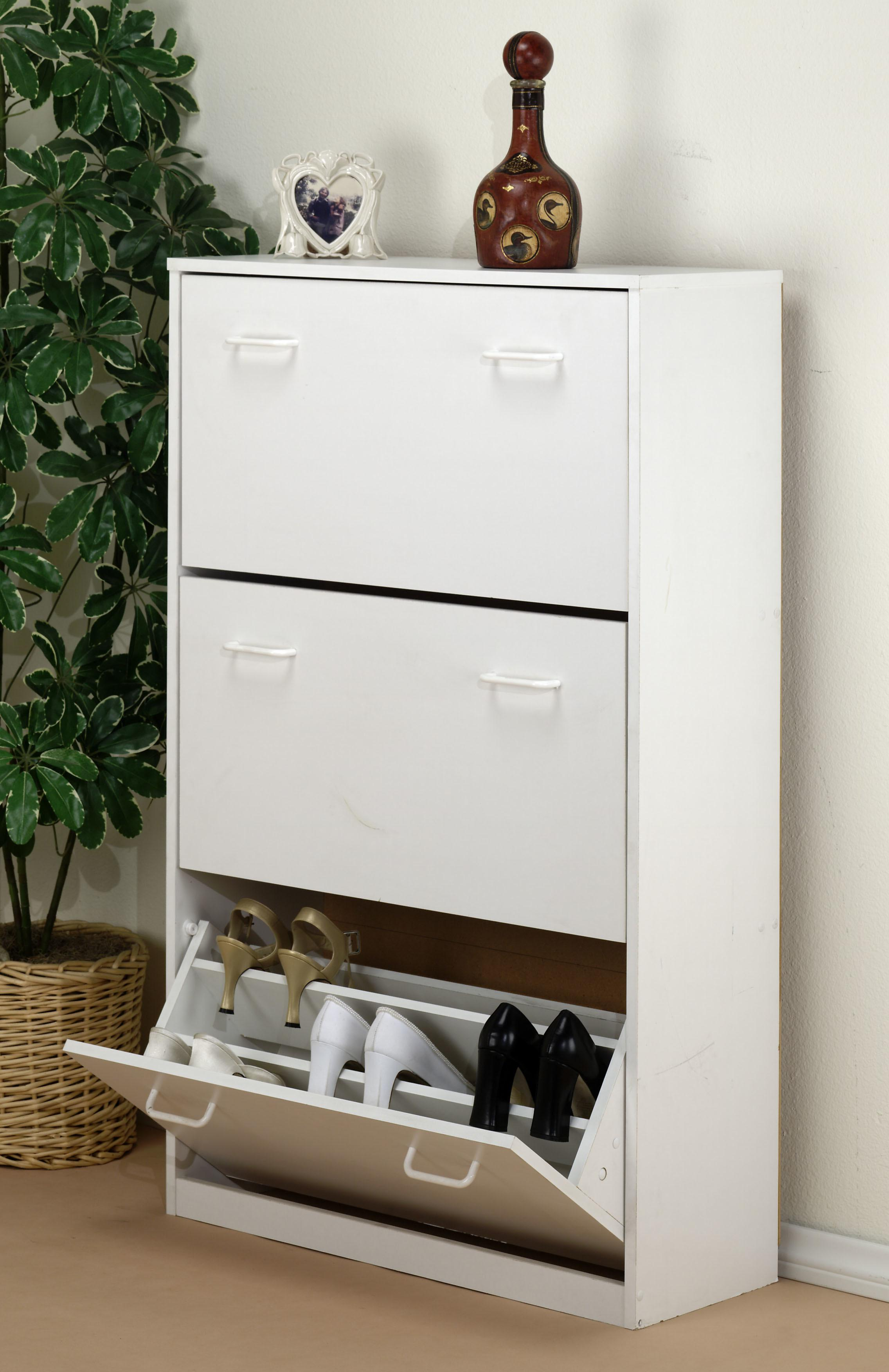 Diy Shoe Cabinet White Storage Wooden Shoes