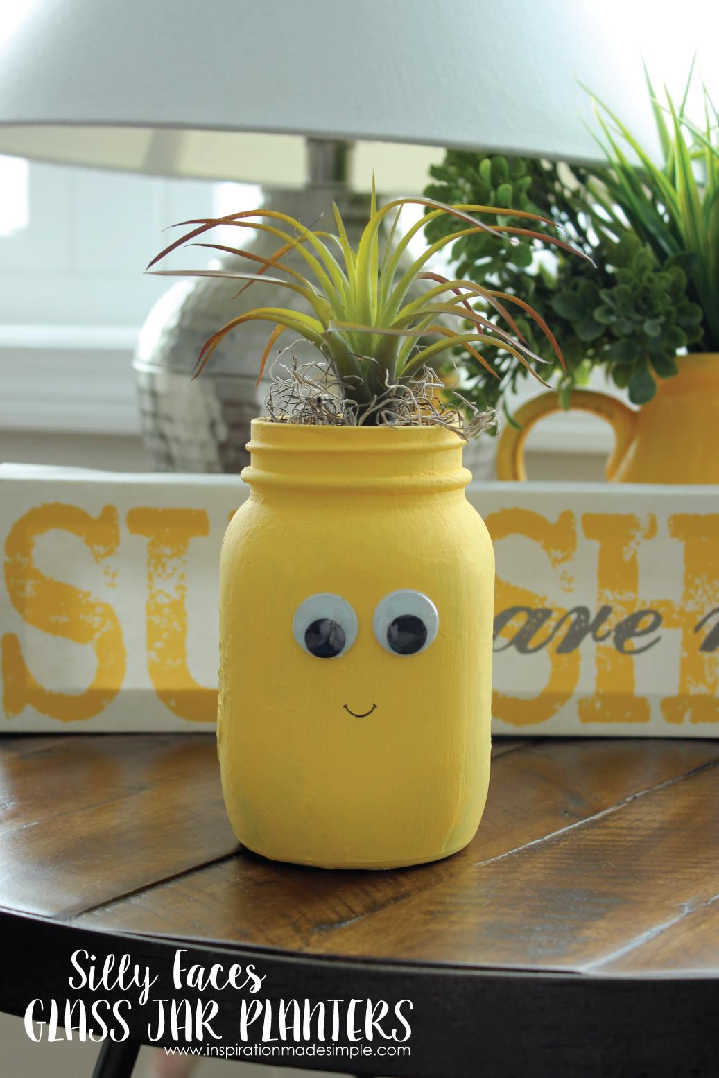 Diy Silly Faces Glass Planters Inspiration Made Simple