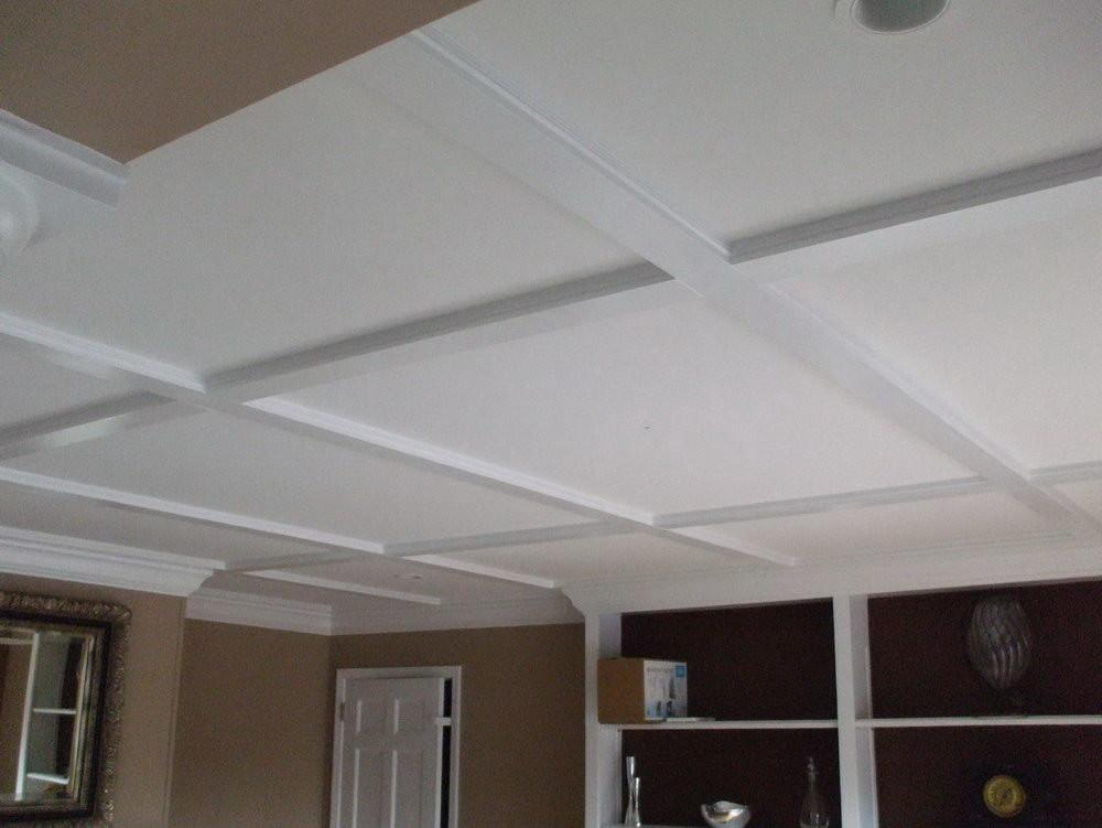Diy Simple Coffered Ceiling Home Design Ideas