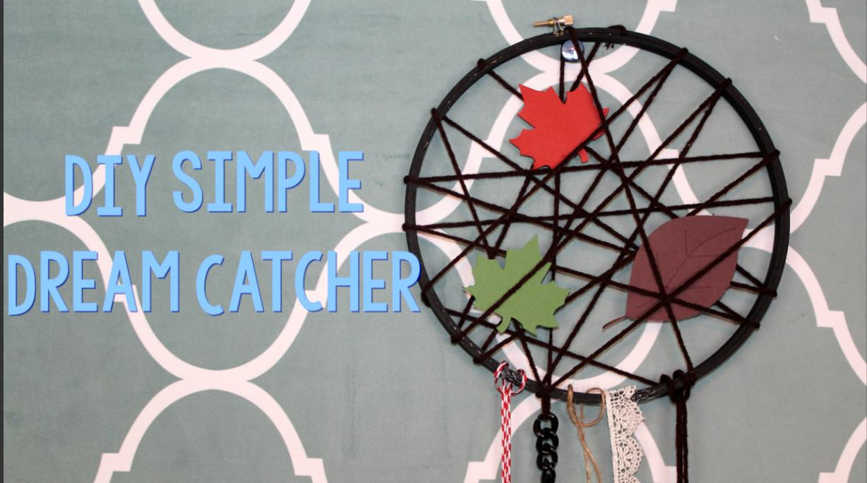 Diy Simple Dream Catcher Little Craft Your Day