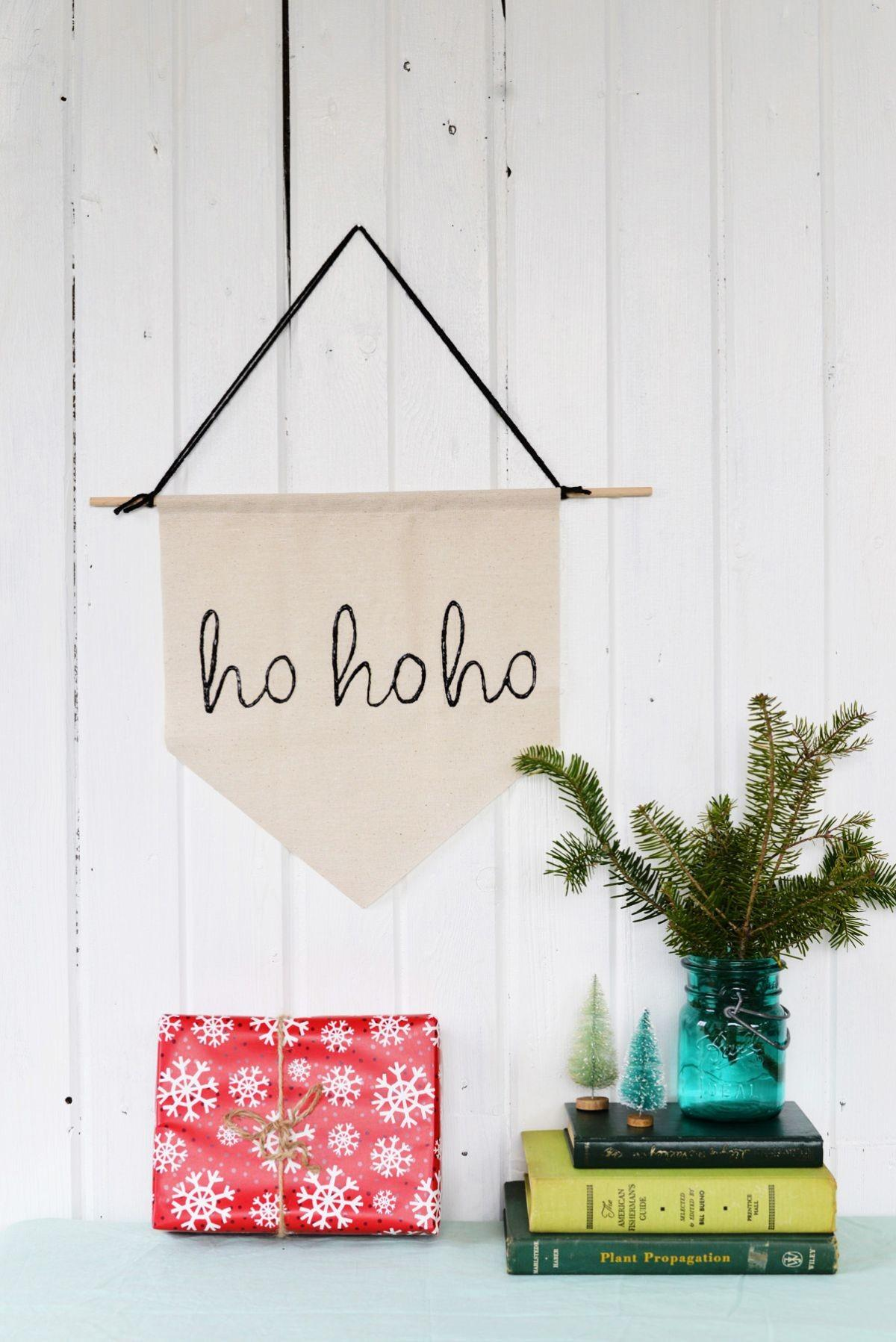 Diy Simple Holiday Banner