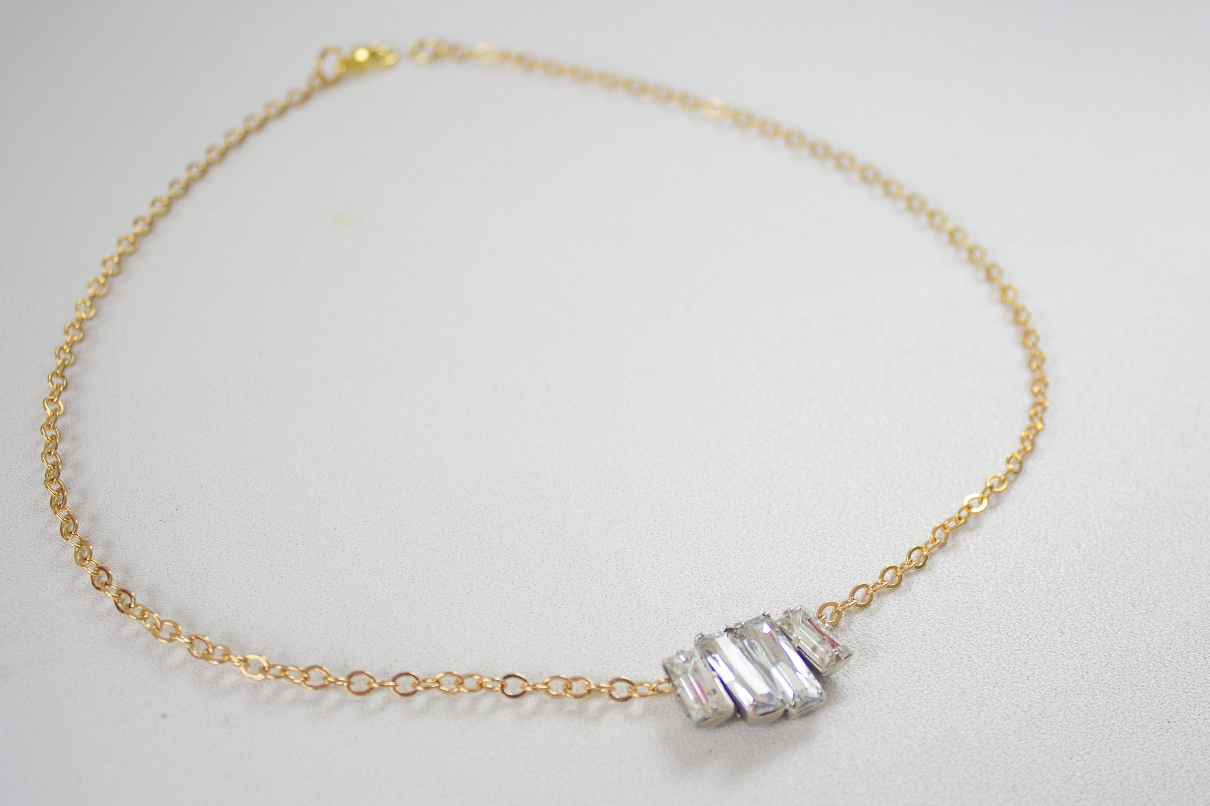 Diy Simple Rhinestone Necklace Lusting Lavish