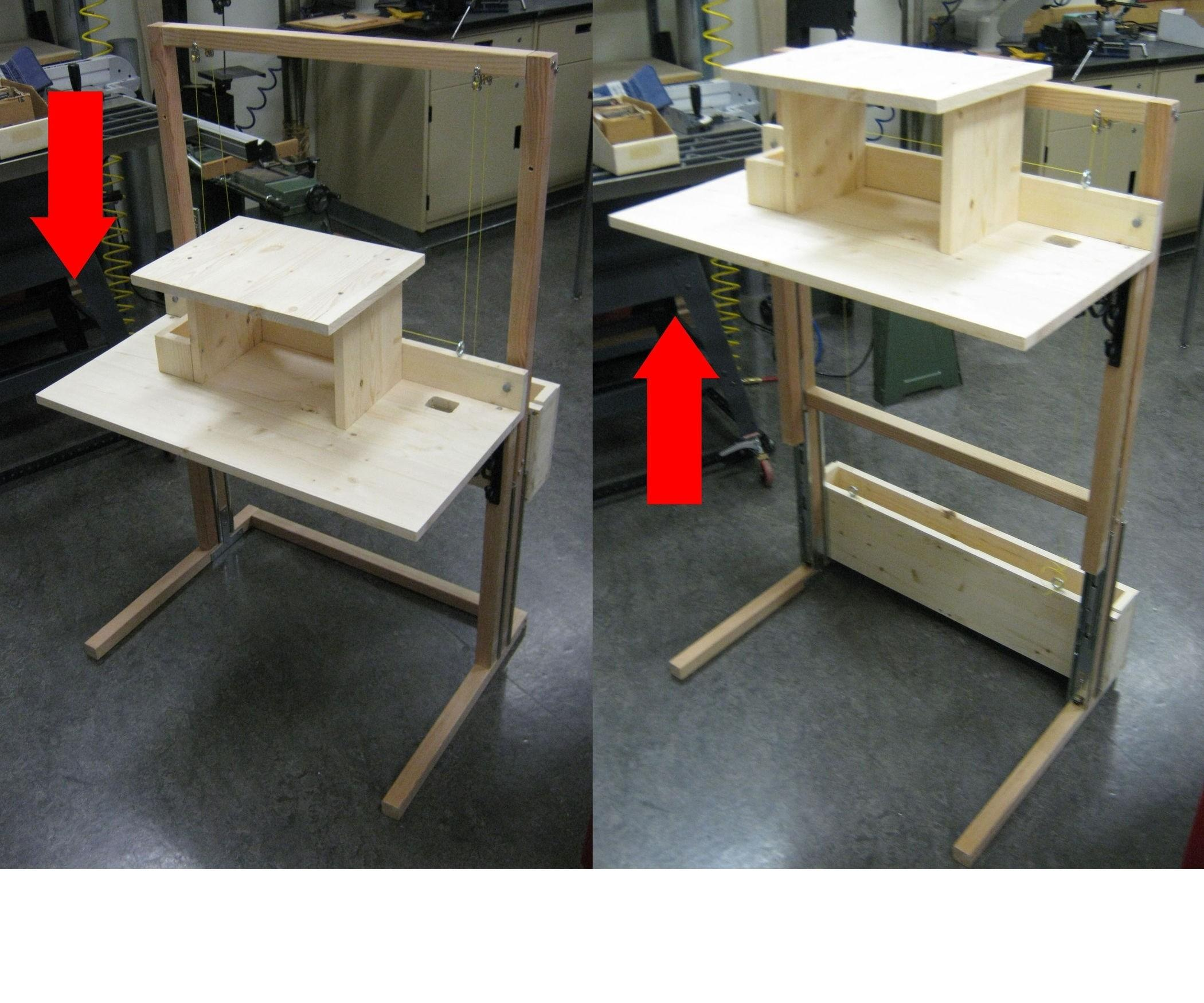 Diy Sit Stand Desk Donttouchthespikes