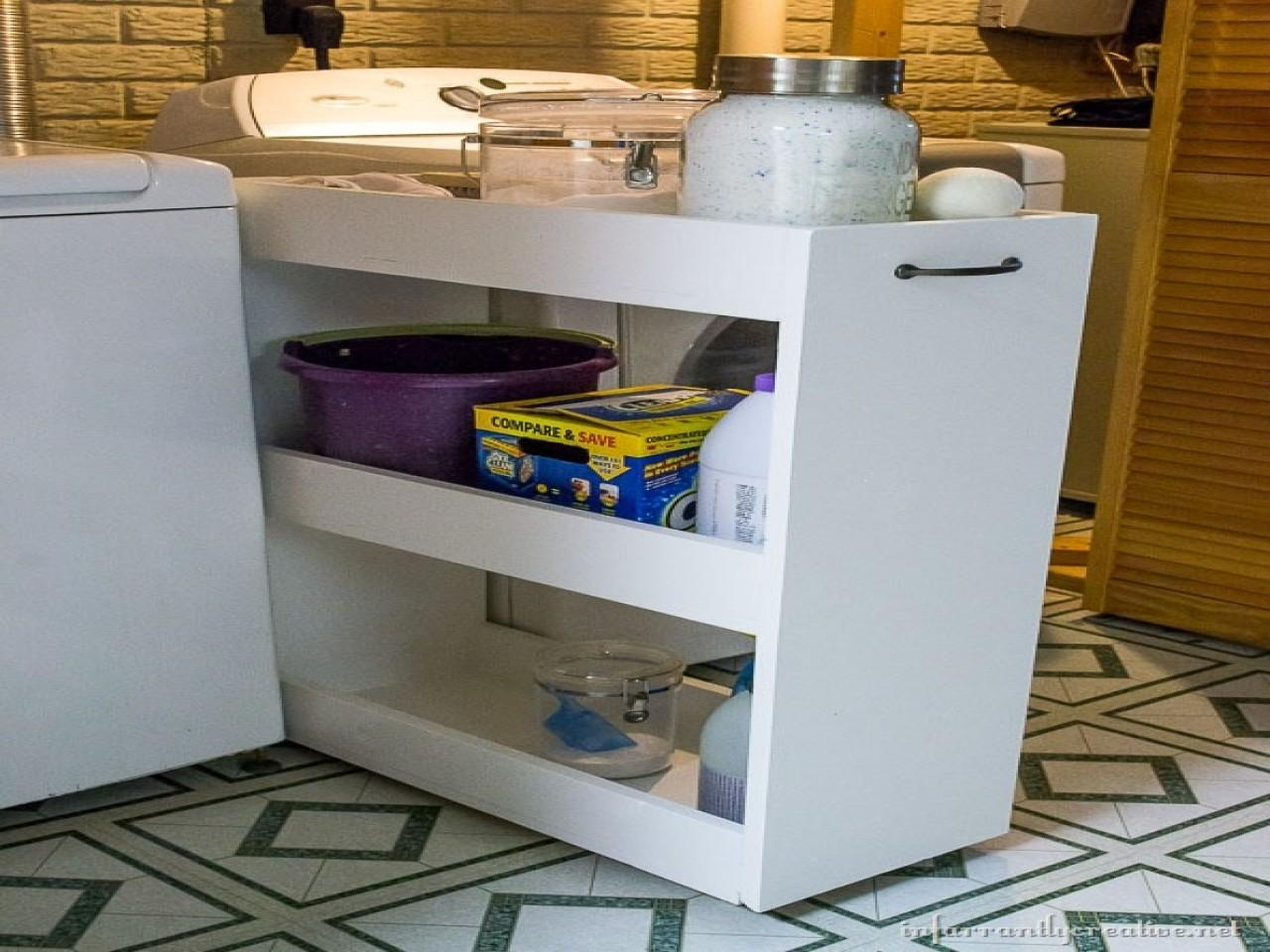 Diy Slide Out Pantry Laundry Room Rolling Storage Cart