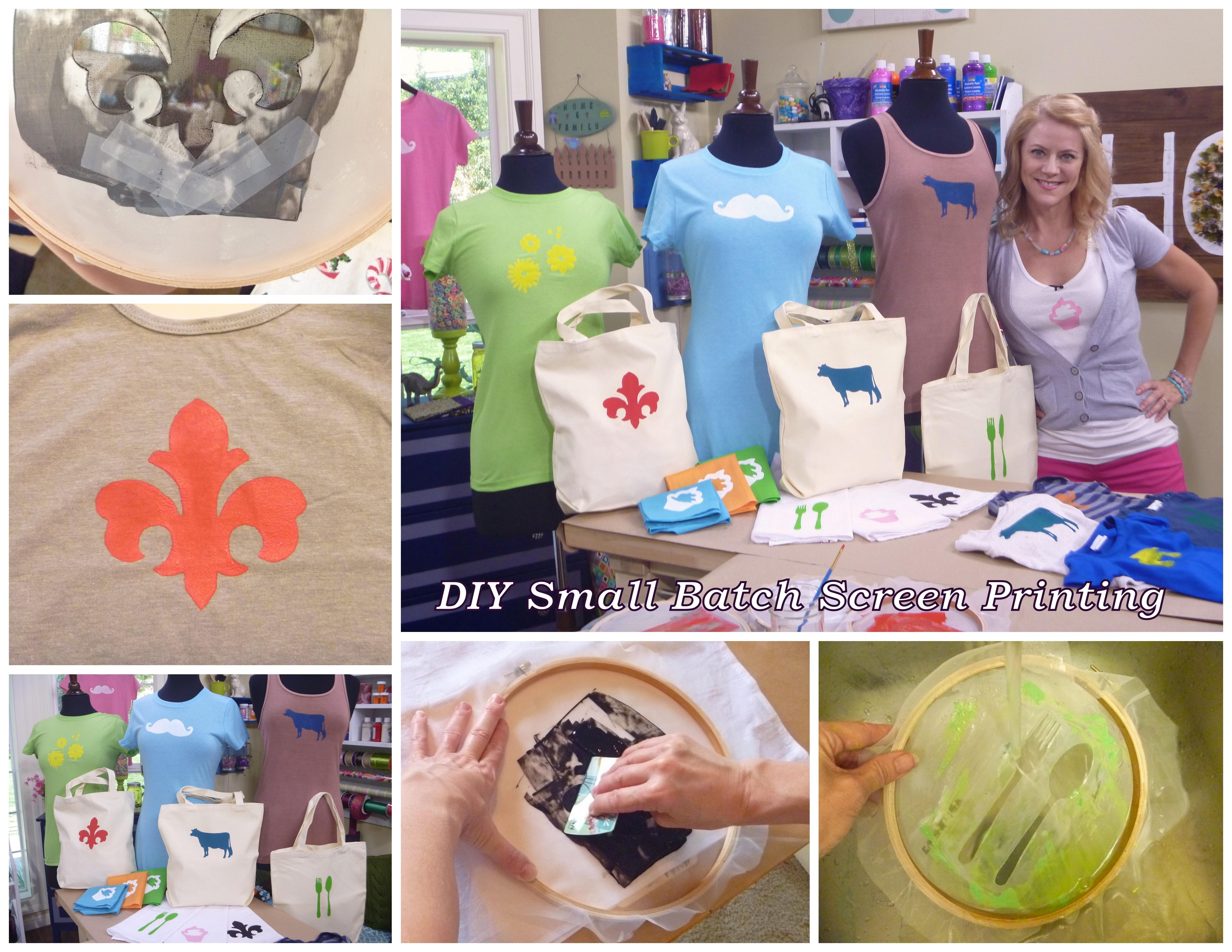Diy Small Batch Screen Printing Tutorial Using