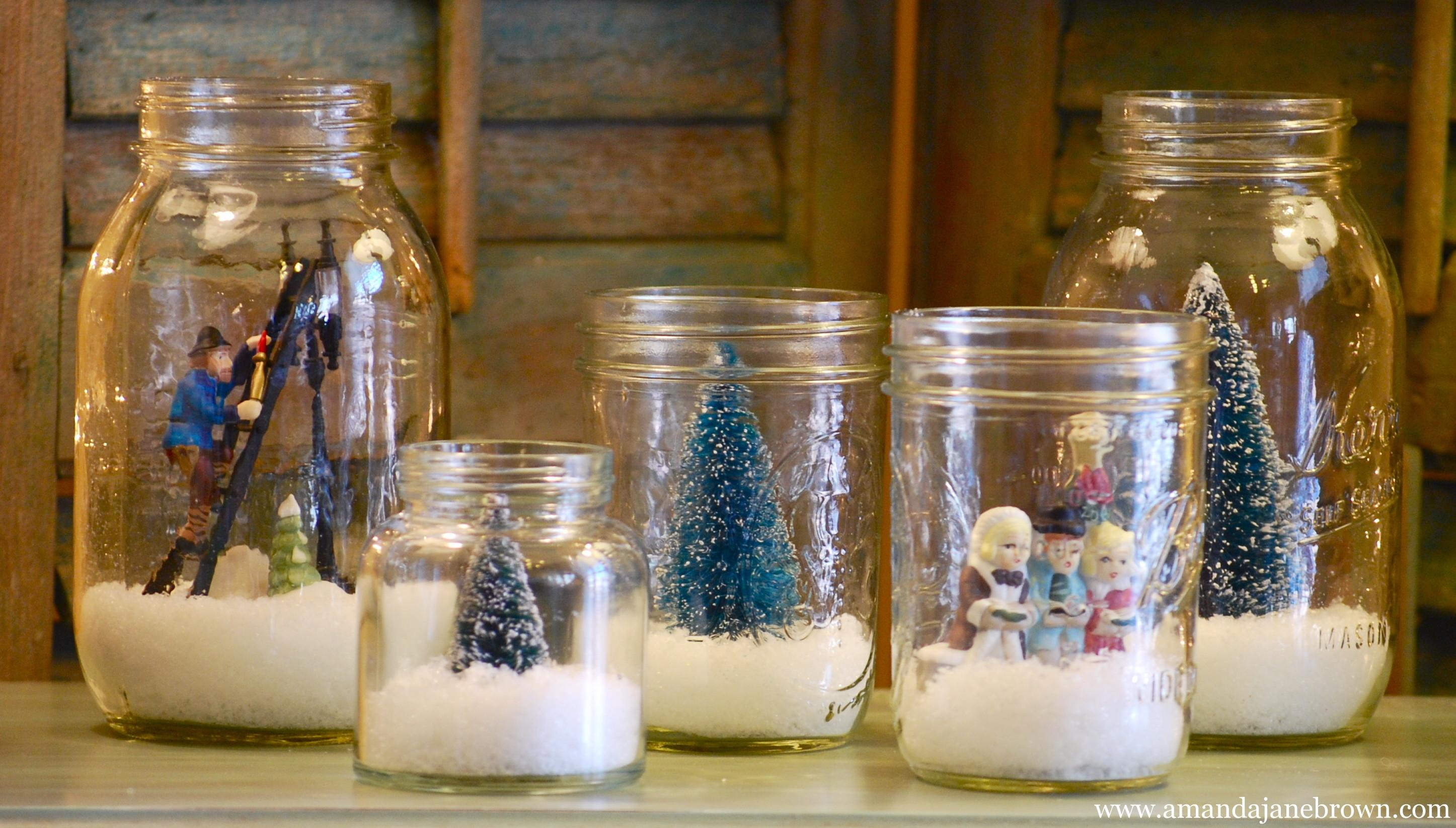 Diy Snow Globes Amanda Jane Brown