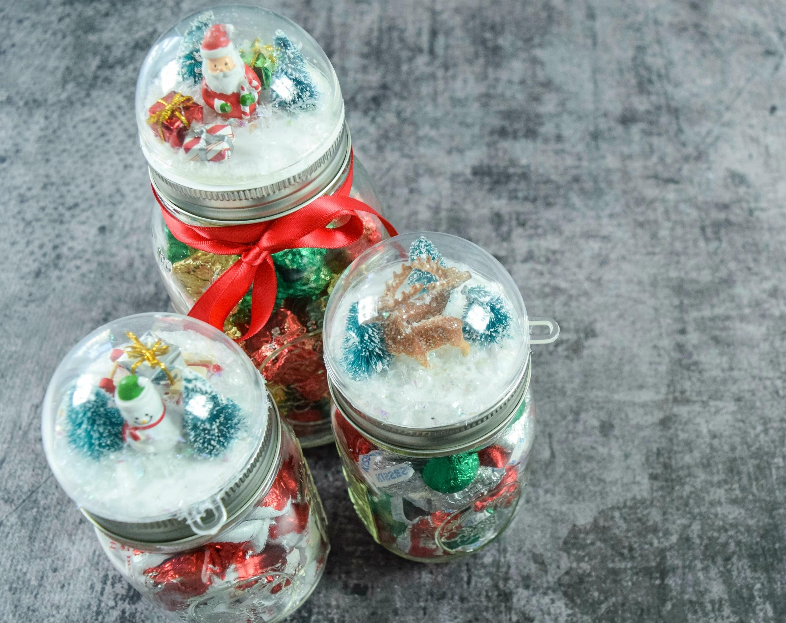 Diy Snowglobe Mason Jar Craft Holiday Gift Tutorial