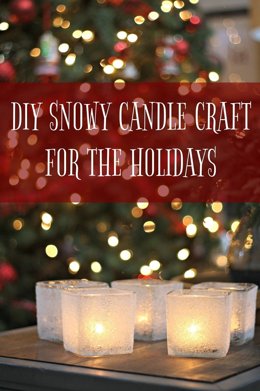 Diy Snowy Holiday Candles Dollar Store
