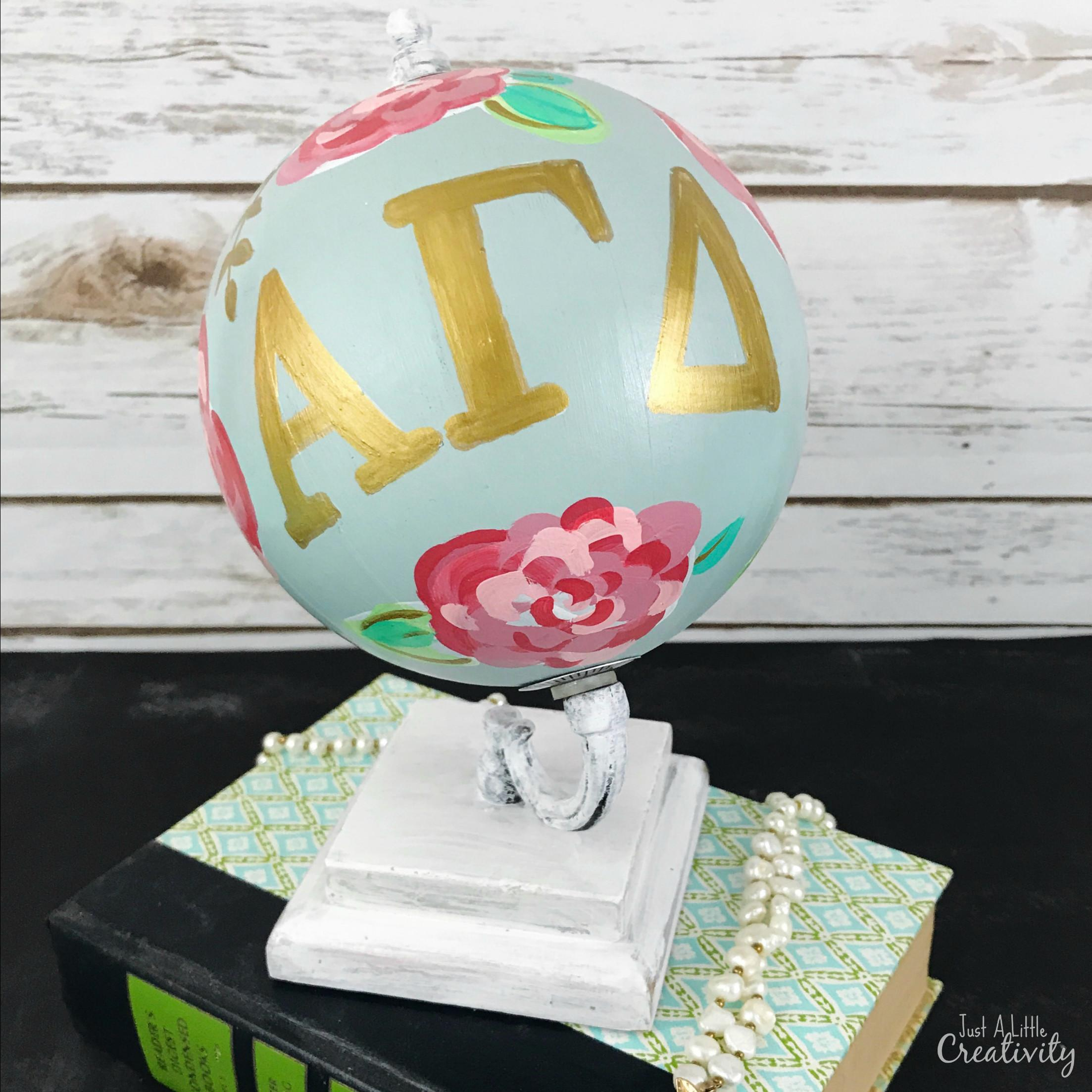 Diy Sorority Gift Idea Lilly Inspired Hand Painted Globe